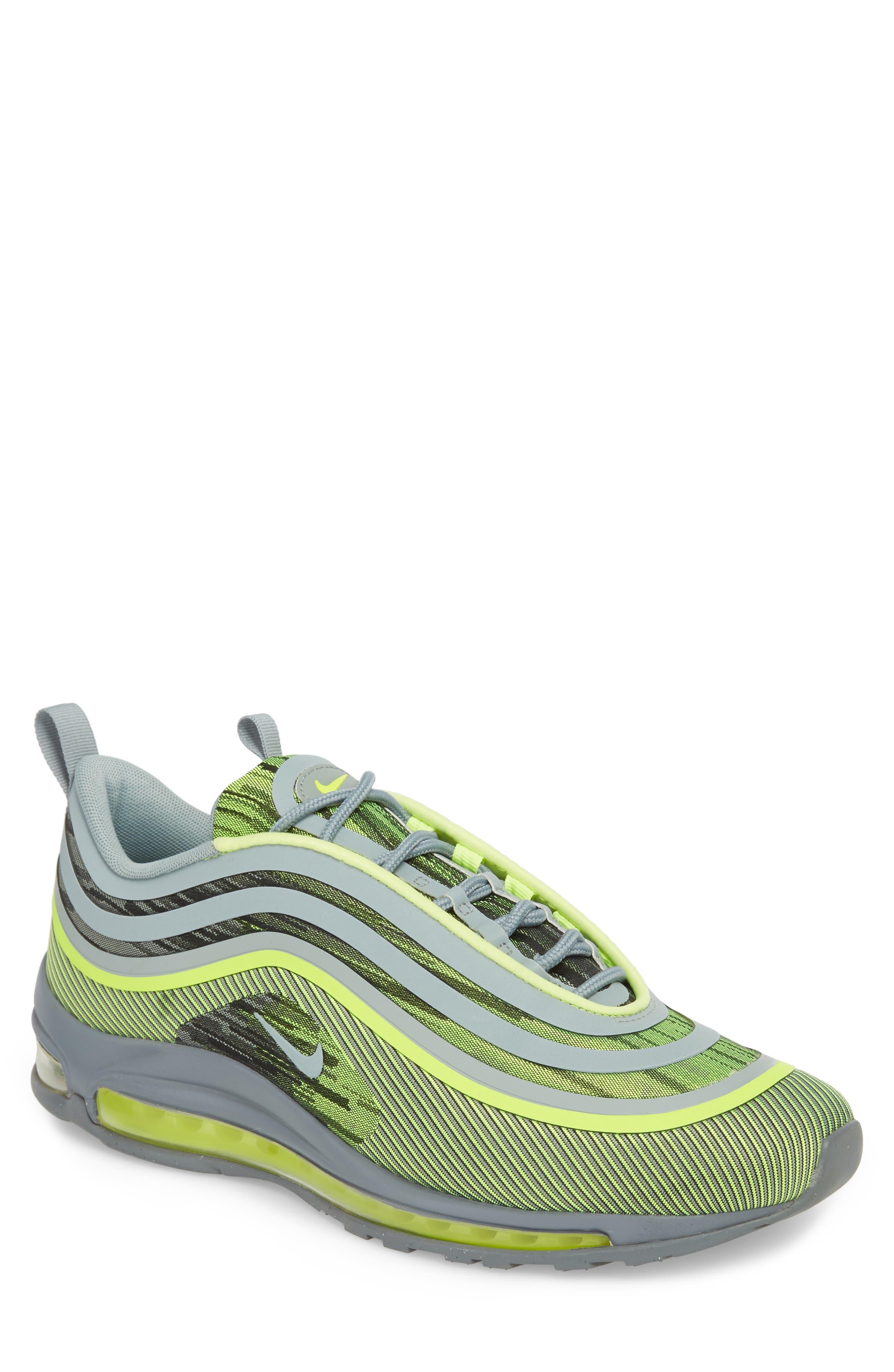 Air Max 97 Ultra '17 Sneaker,                             Main thumbnail 1, color,                             Volt/ Mica Green/ Cool Grey