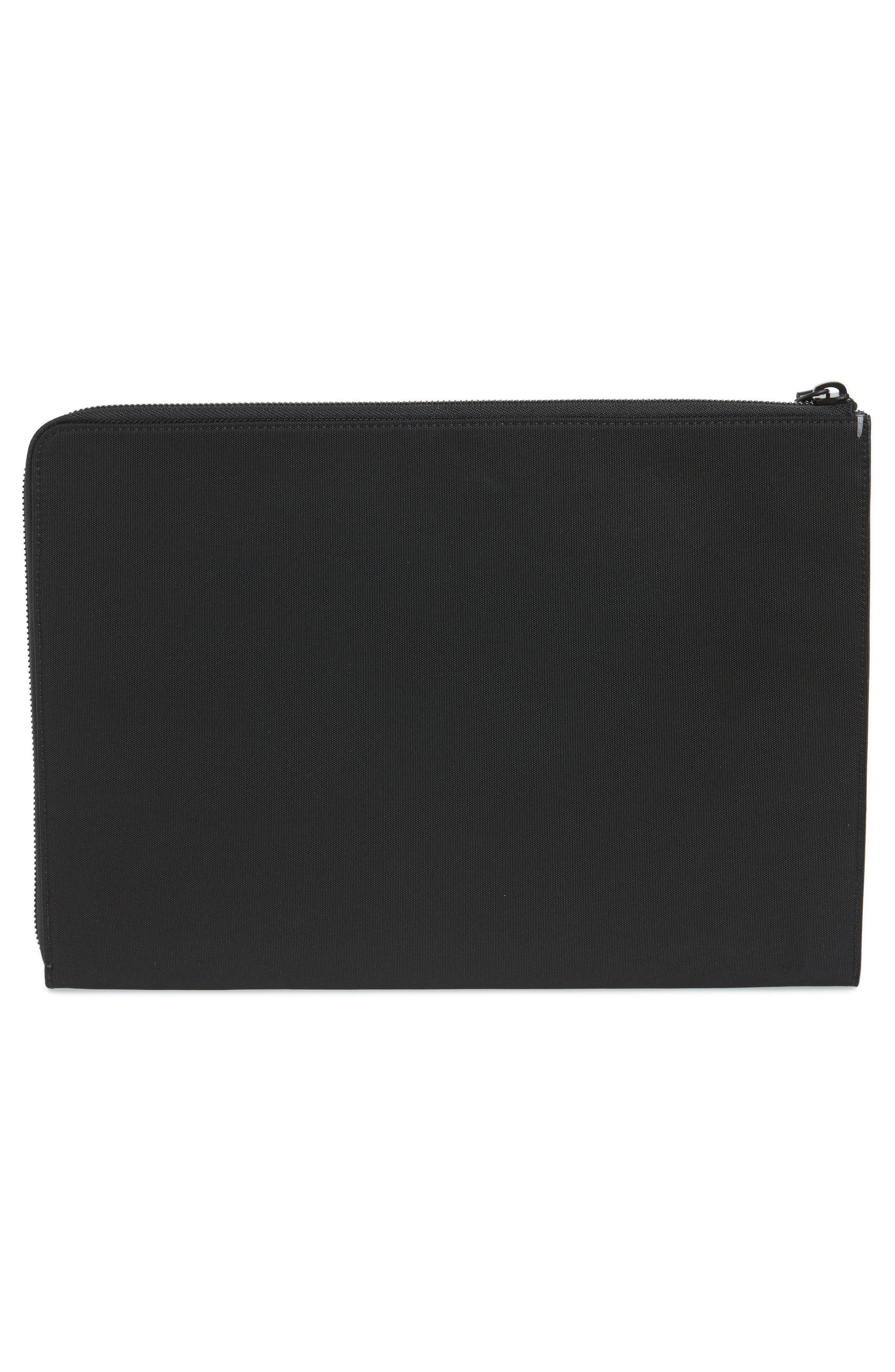 Portfolio Case,                             Alternate thumbnail 2, color,                             Black Nylon/ Black Leather