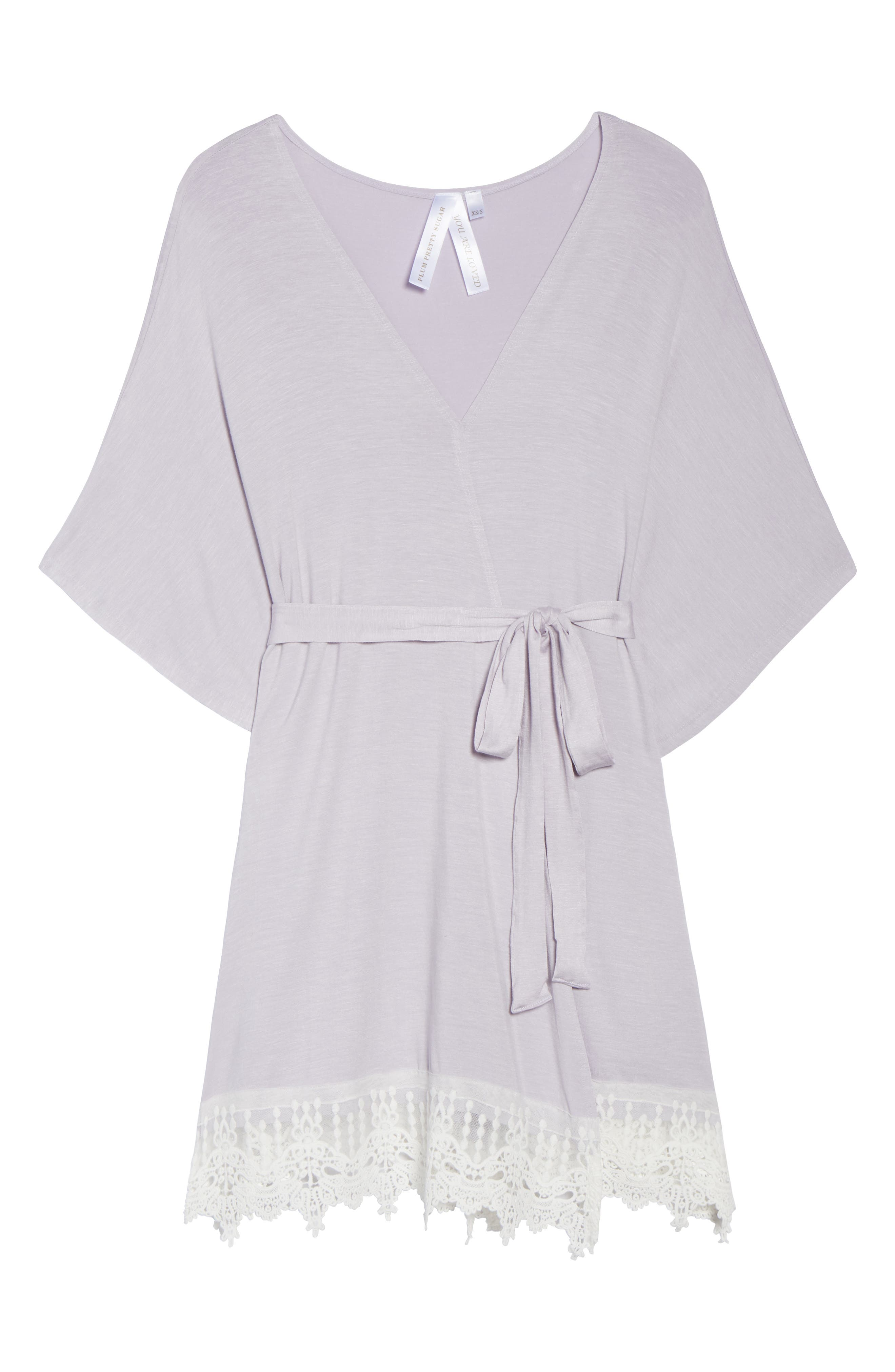 Sweetheart Robe,                             Alternate thumbnail 6, color,                             Lavender - Sweets