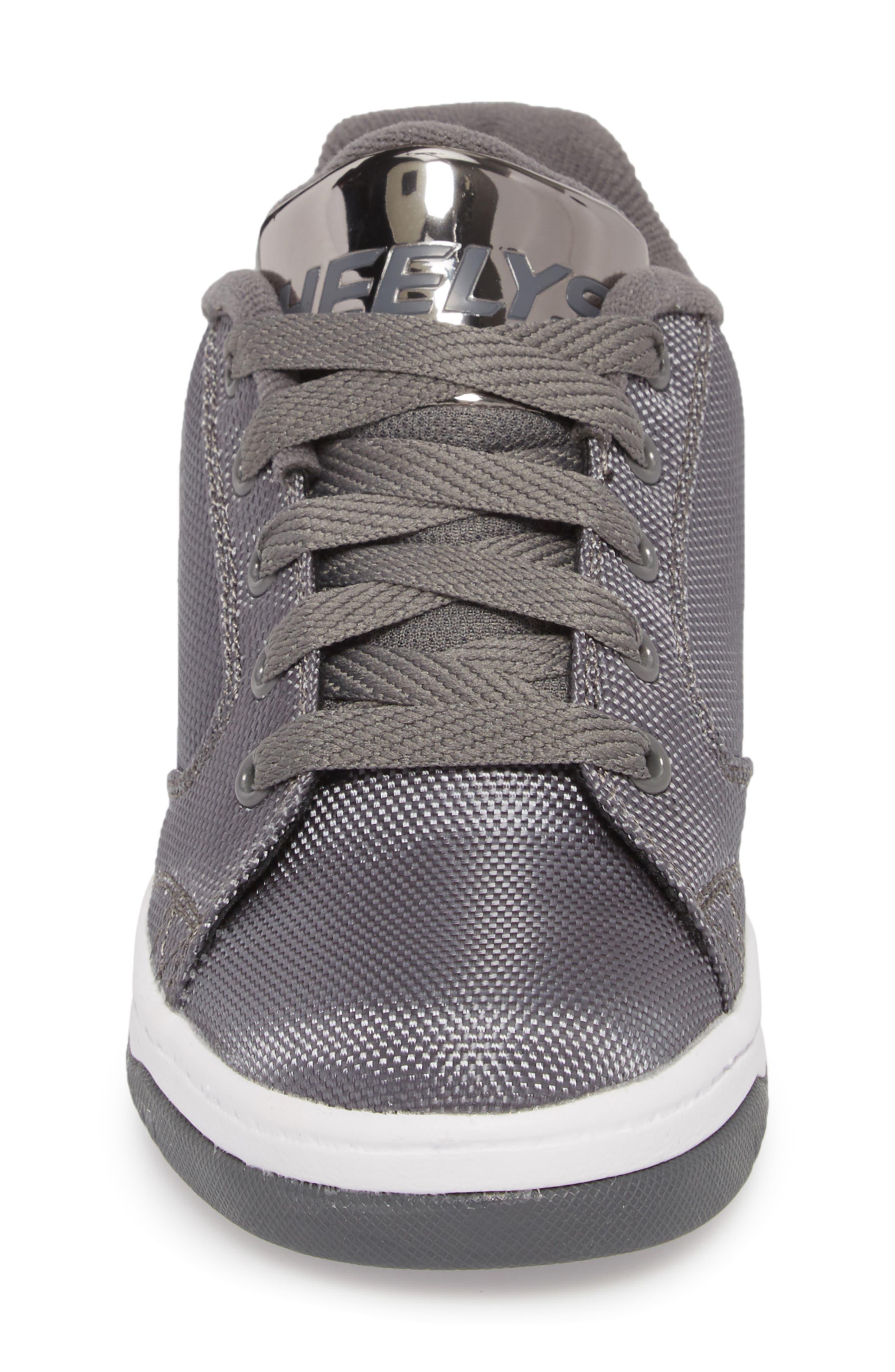 Heels Propel Ballistic Sneaker,                             Alternate thumbnail 4, color,                             Charcoal/ Pewter