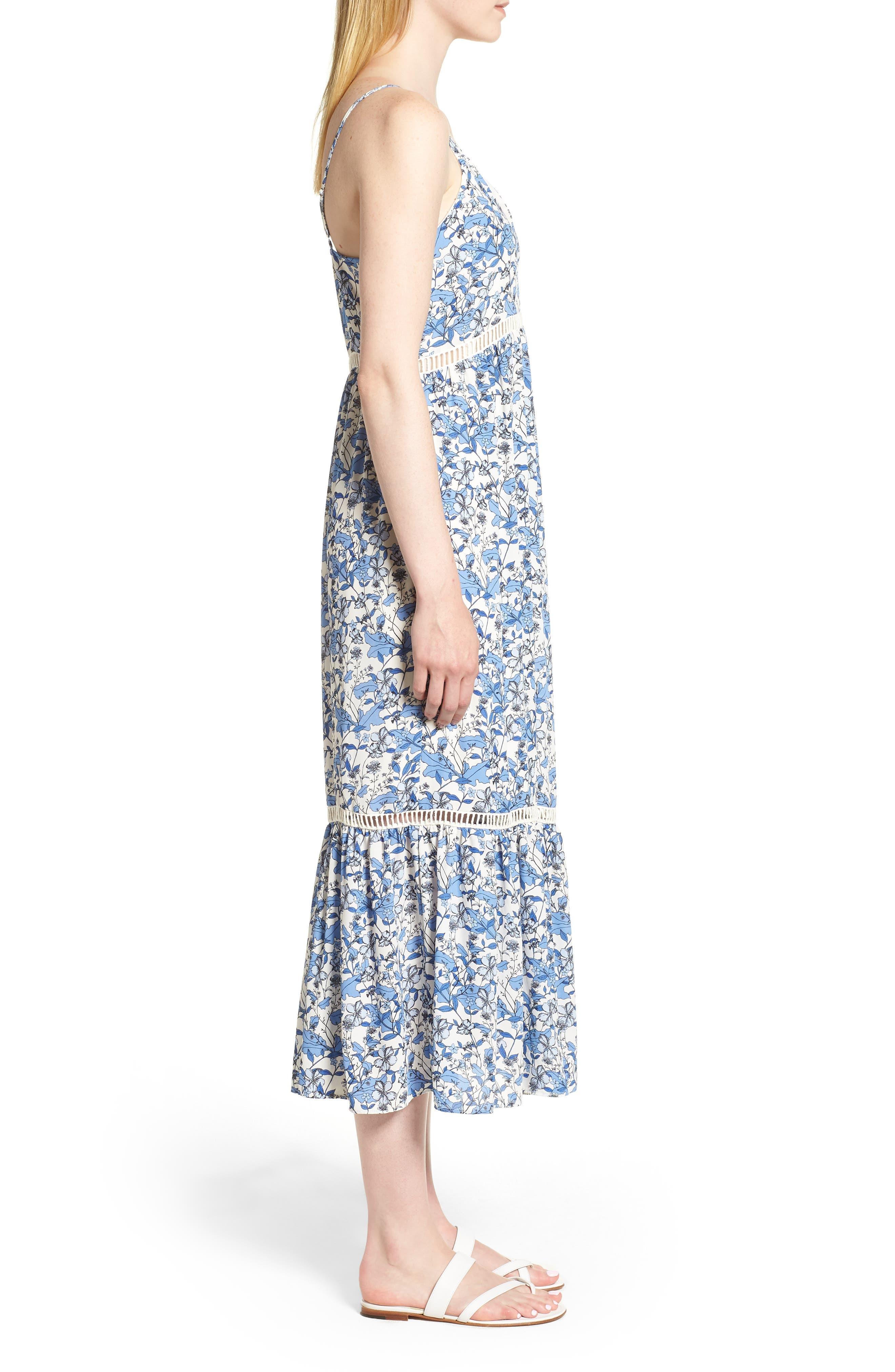 Ivy Forest Maxi Dress,                             Alternate thumbnail 3, color,                             Antique White