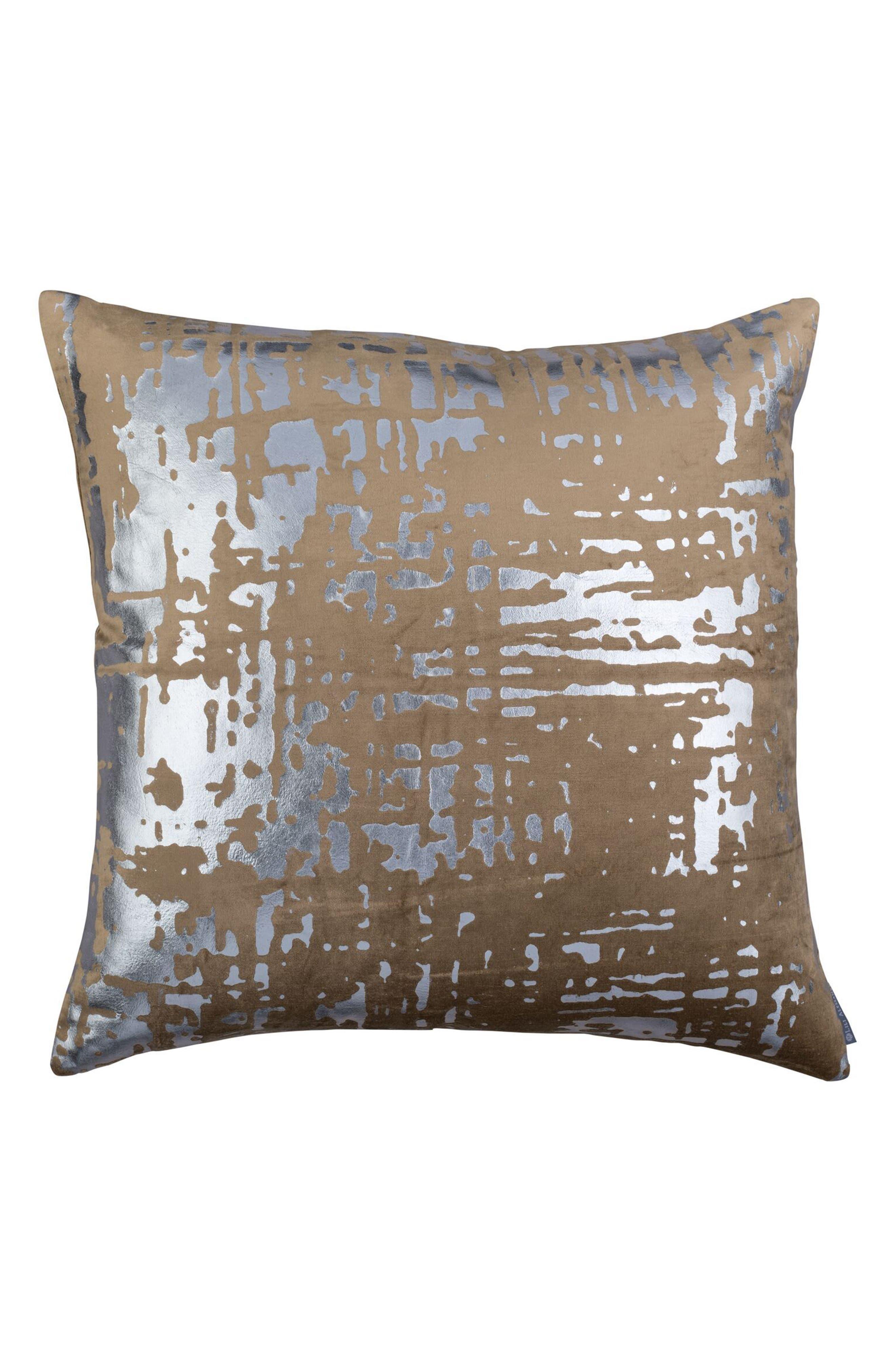 Moderne Velvet Foil Accent Pillow,                         Main,                         color, Gold