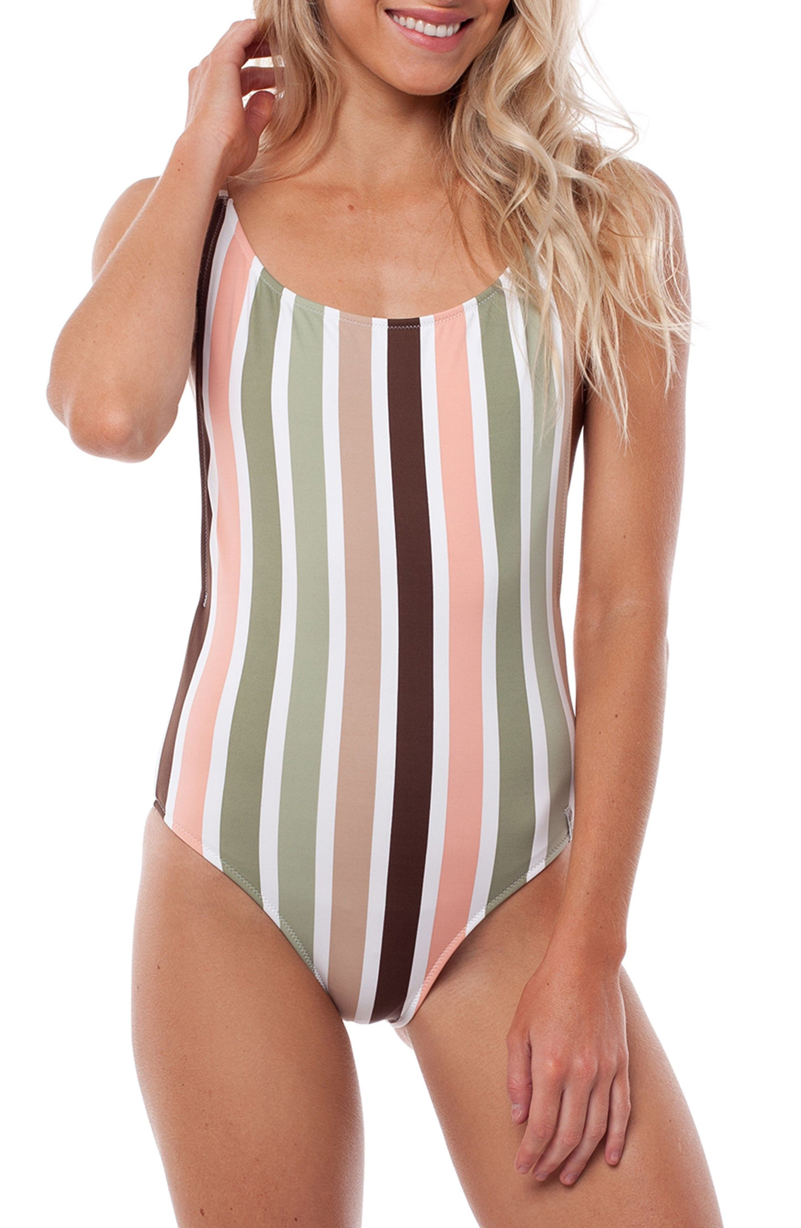 Zimbabwe One-Piece Swimsuit,                         Main,                         color, Fern