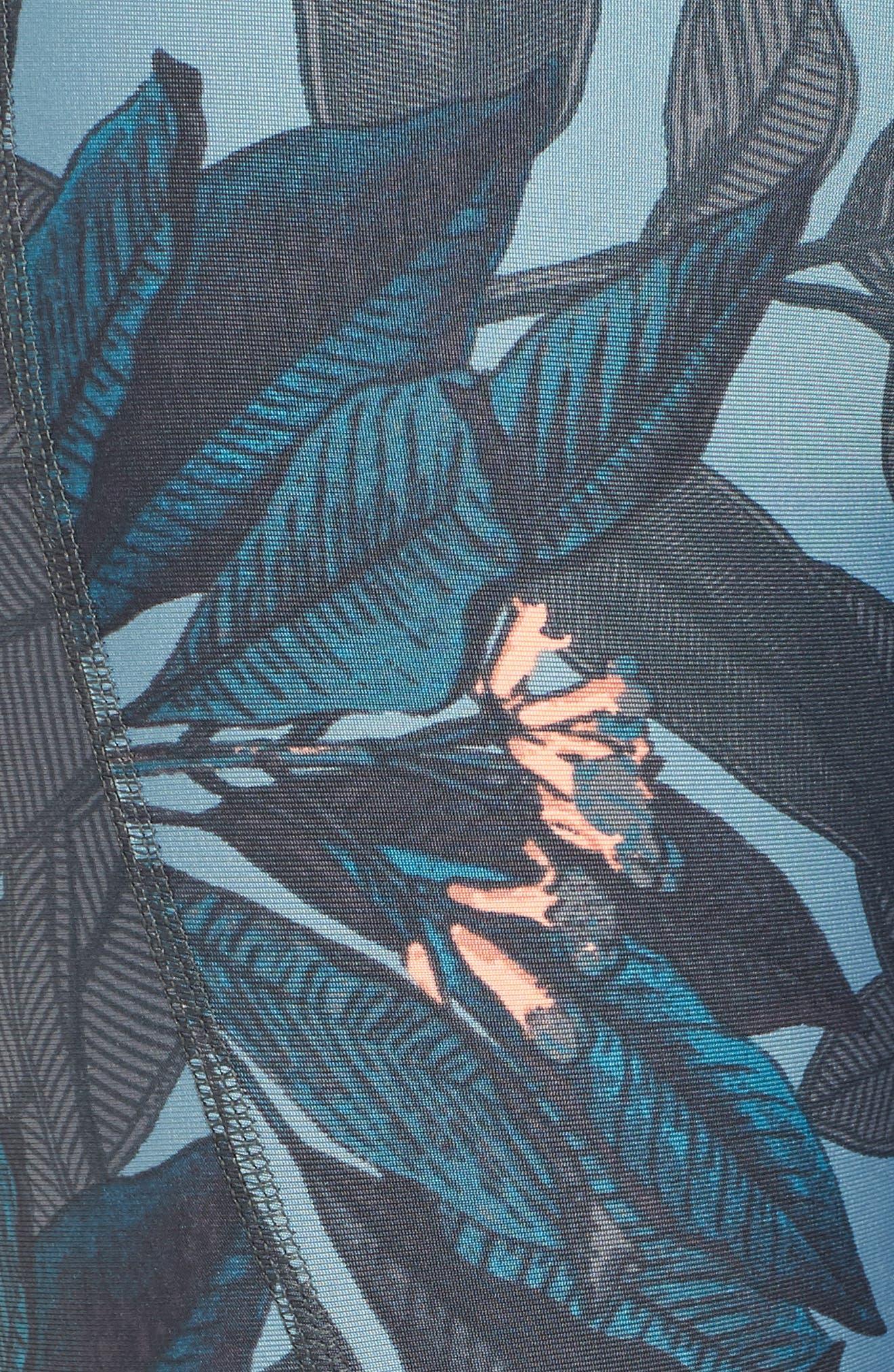 Dazzling Jungle Leggings,                             Alternate thumbnail 6, color,                             Dark Green