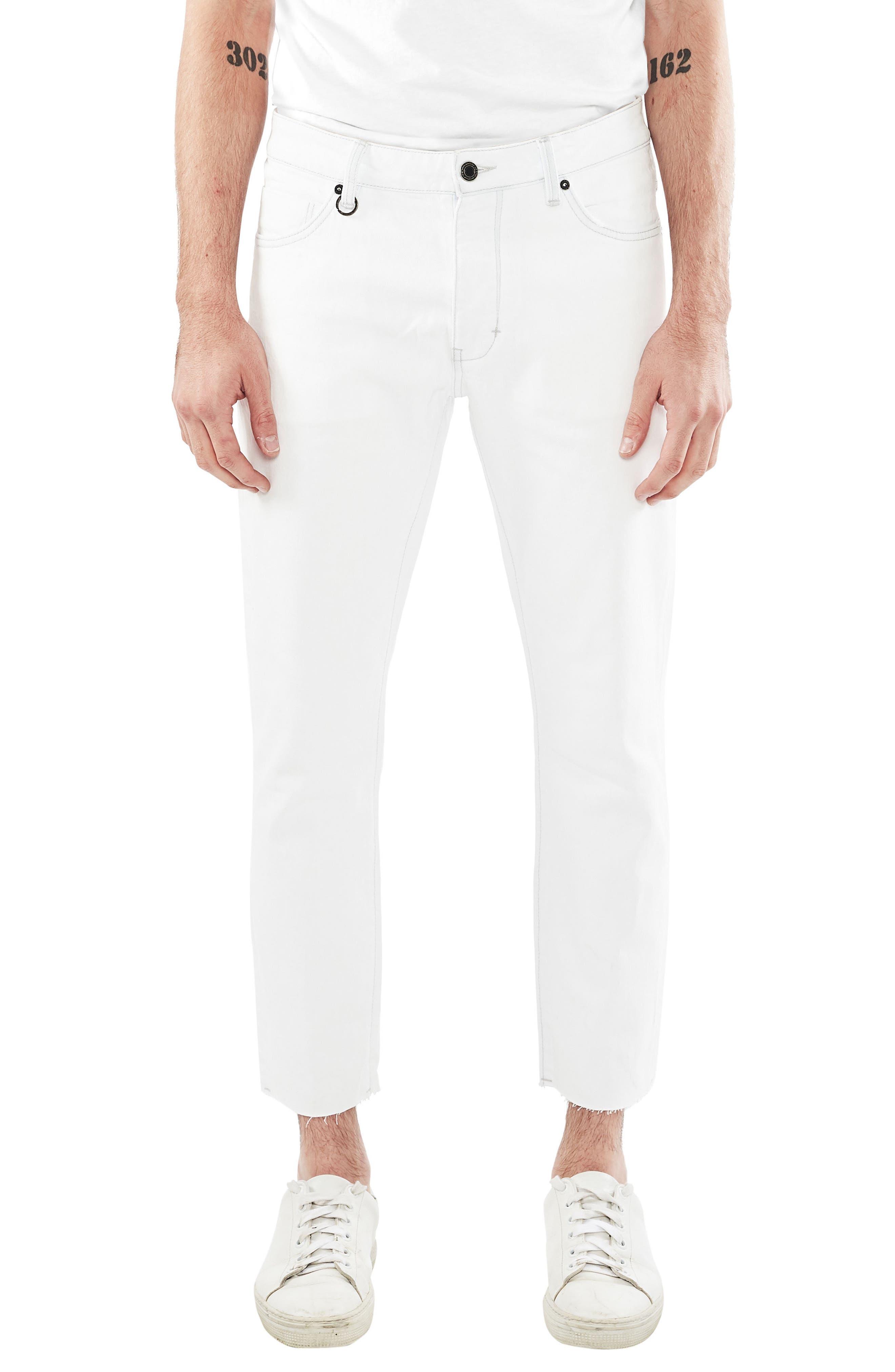 Lou Slim Fit Crop Jeans,                             Main thumbnail 1, color,                             Communion White
