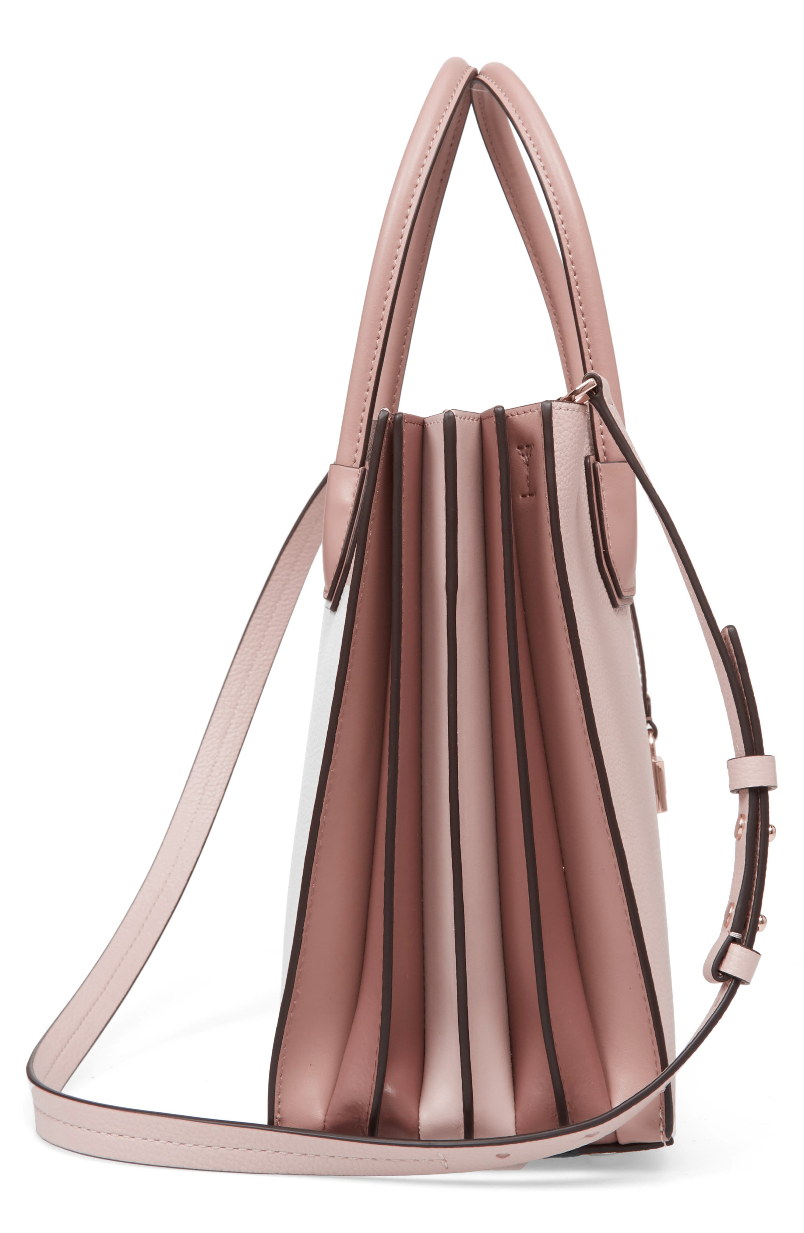 Large Mercer Leather Tote,                             Alternate thumbnail 5, color,                             Soft Pink