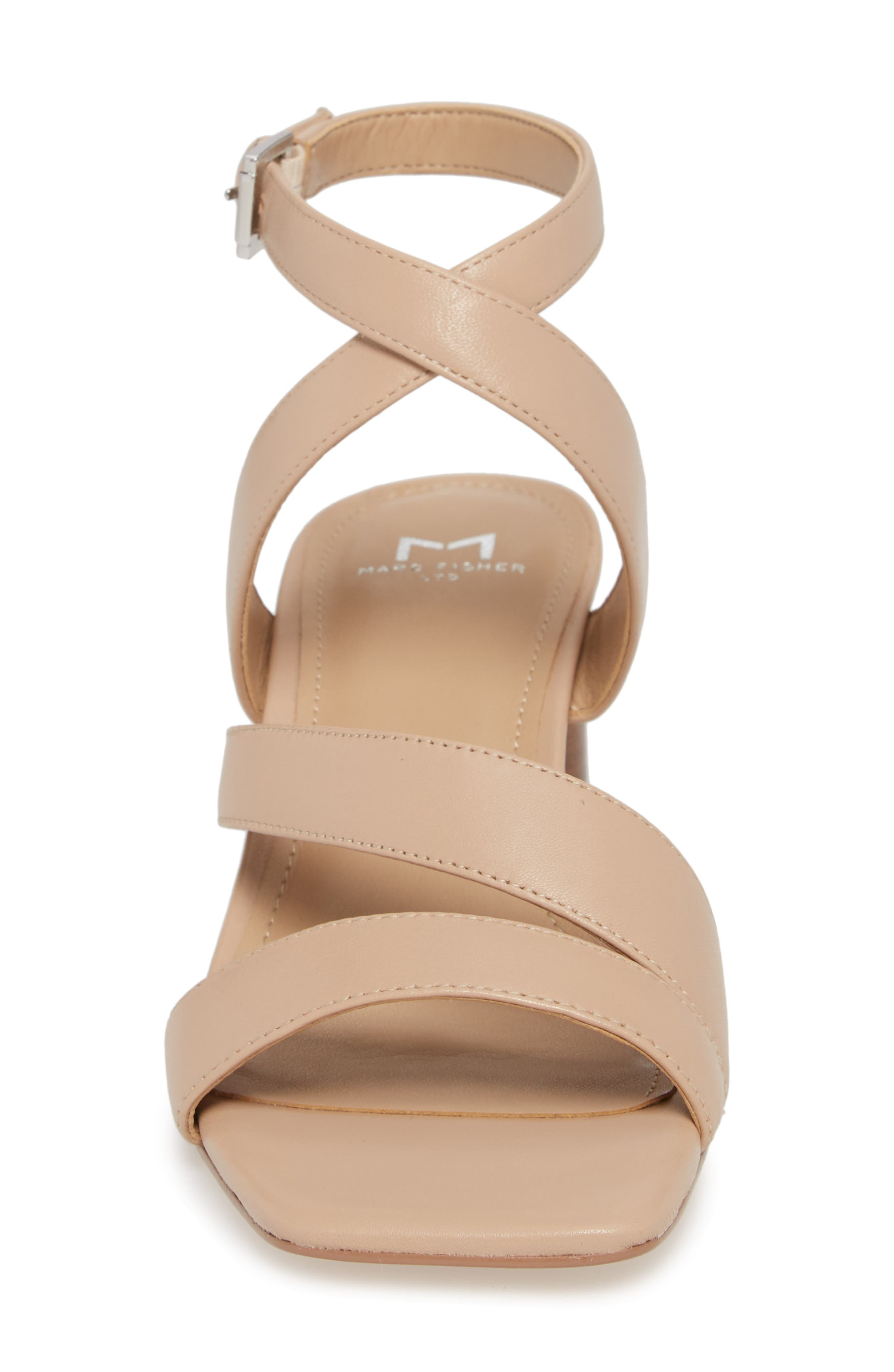 Marc Fischer LTD Idana Strappy Sandal,                             Alternate thumbnail 4, color,                             Lite Latte Leather