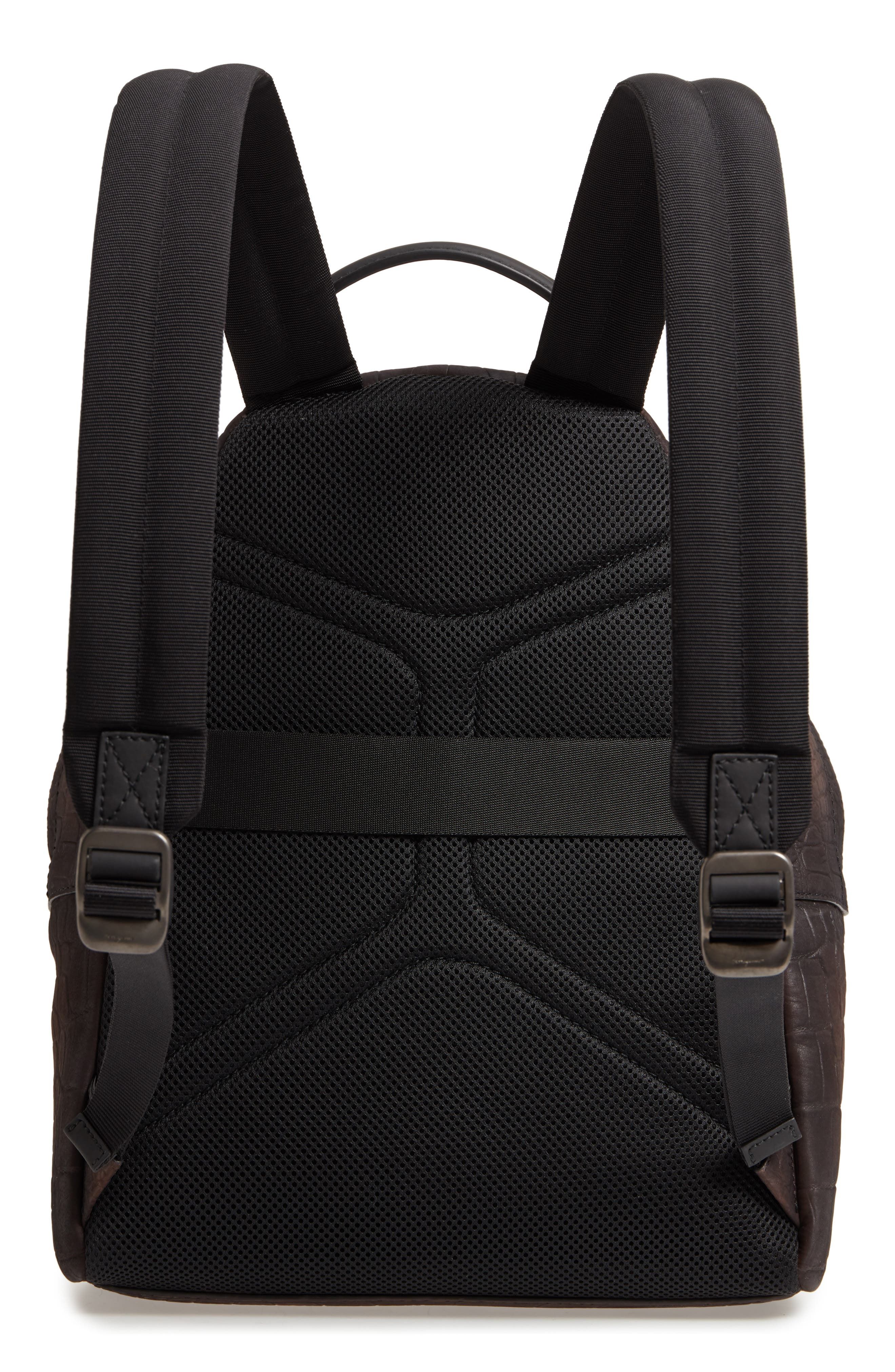Firenze Leather Backpack,                             Alternate thumbnail 3, color,                             Moro