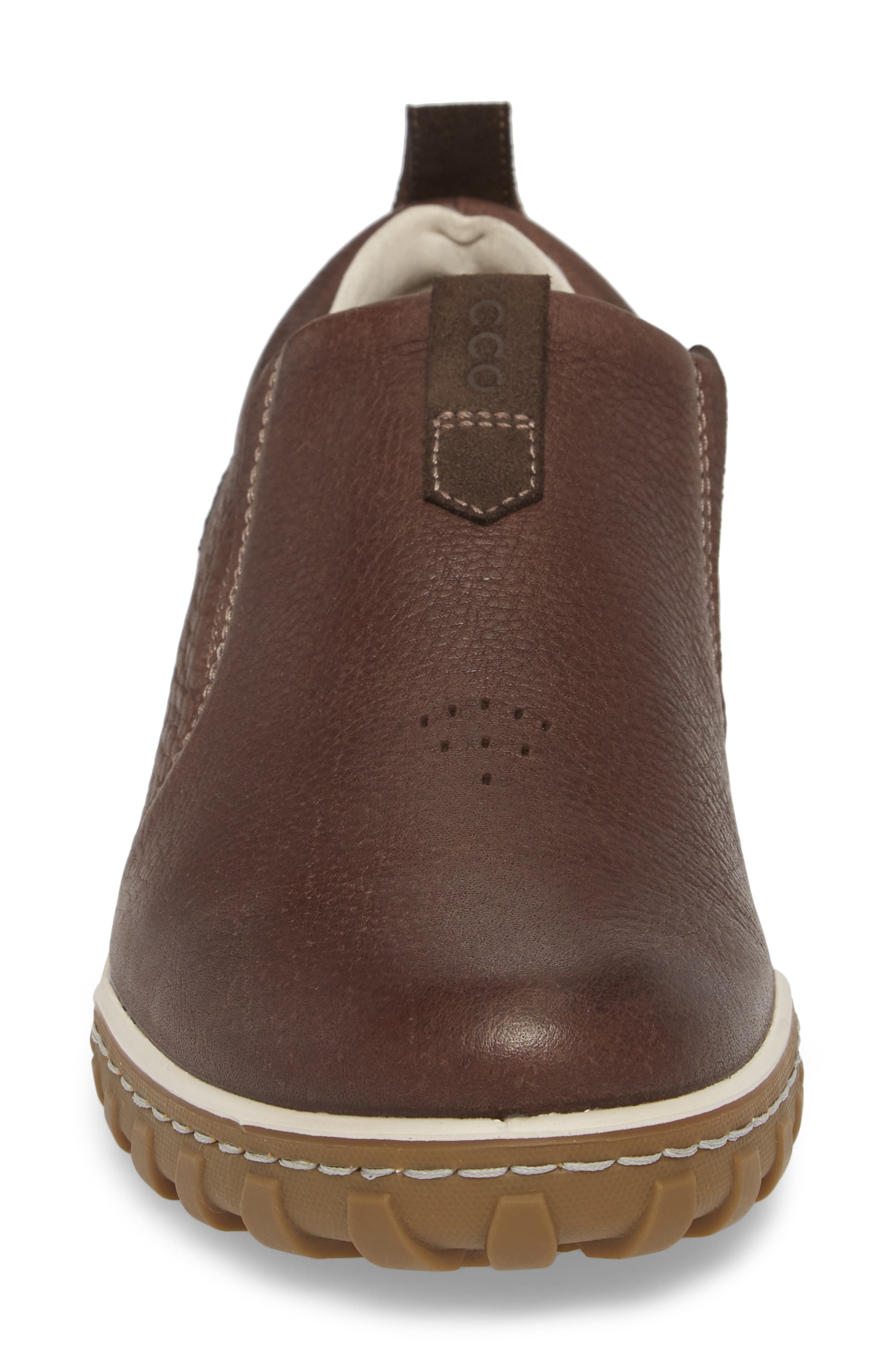 Urban Lifestyle Slip-On Sneaker,                             Alternate thumbnail 4, color,                             Coffee Leather