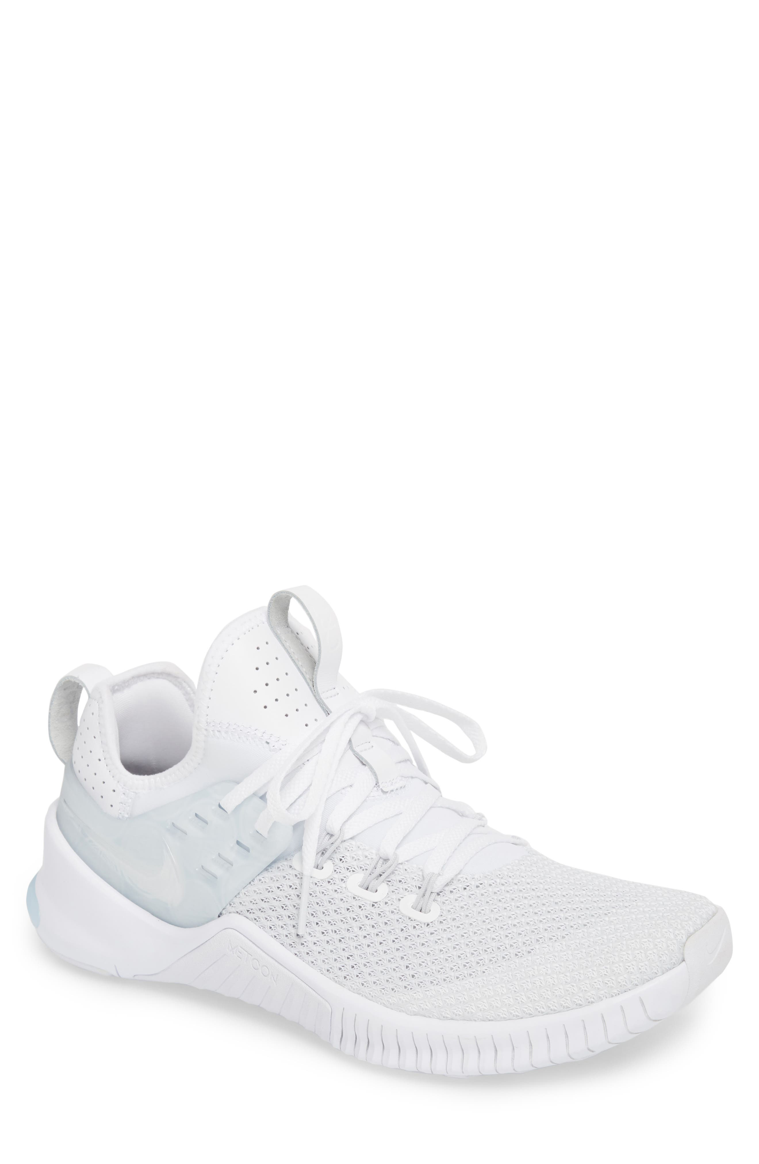 Free x Metcon CR7 Training Shoe,                         Main,                         color, White/ White