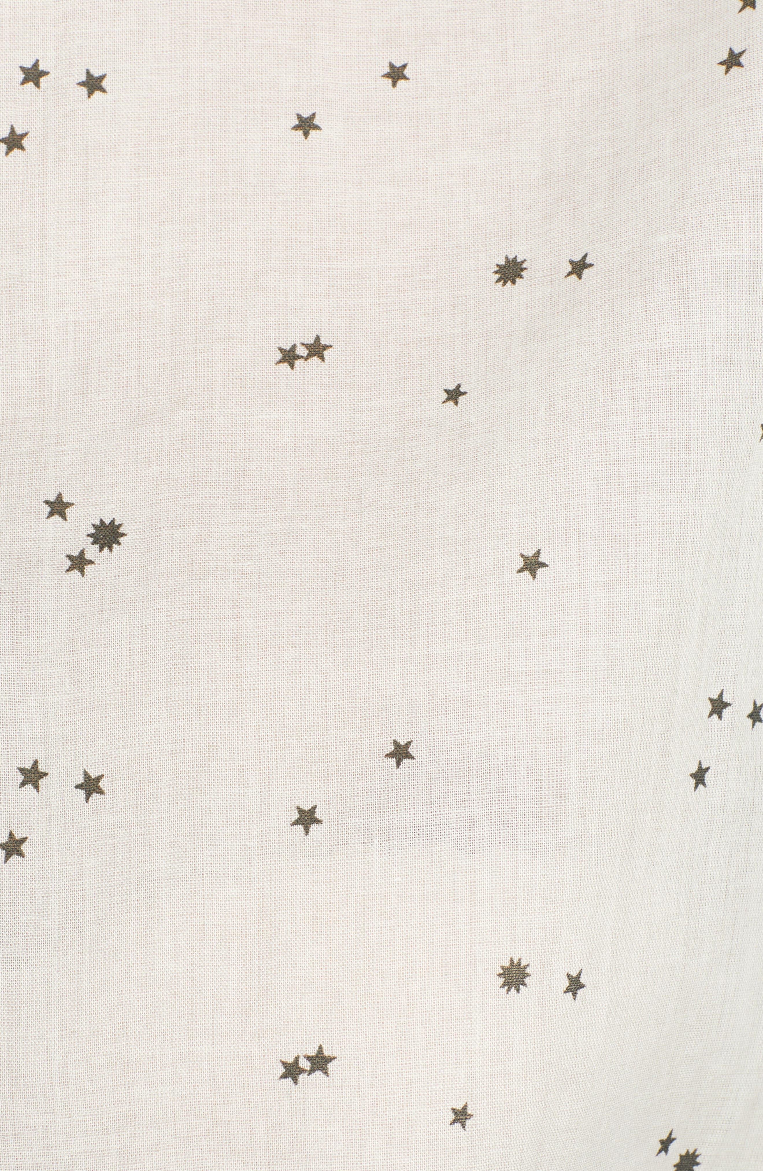 Tie Back Camp Shirt,                             Alternate thumbnail 6, color,                             White Star Print