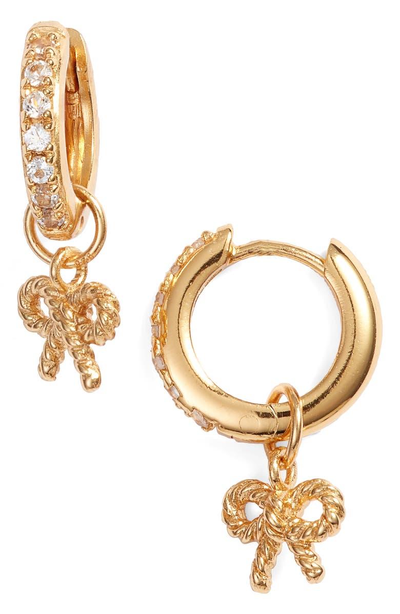 Olivia Burton Vintage Bow Huggie Hoop Earrings Gold