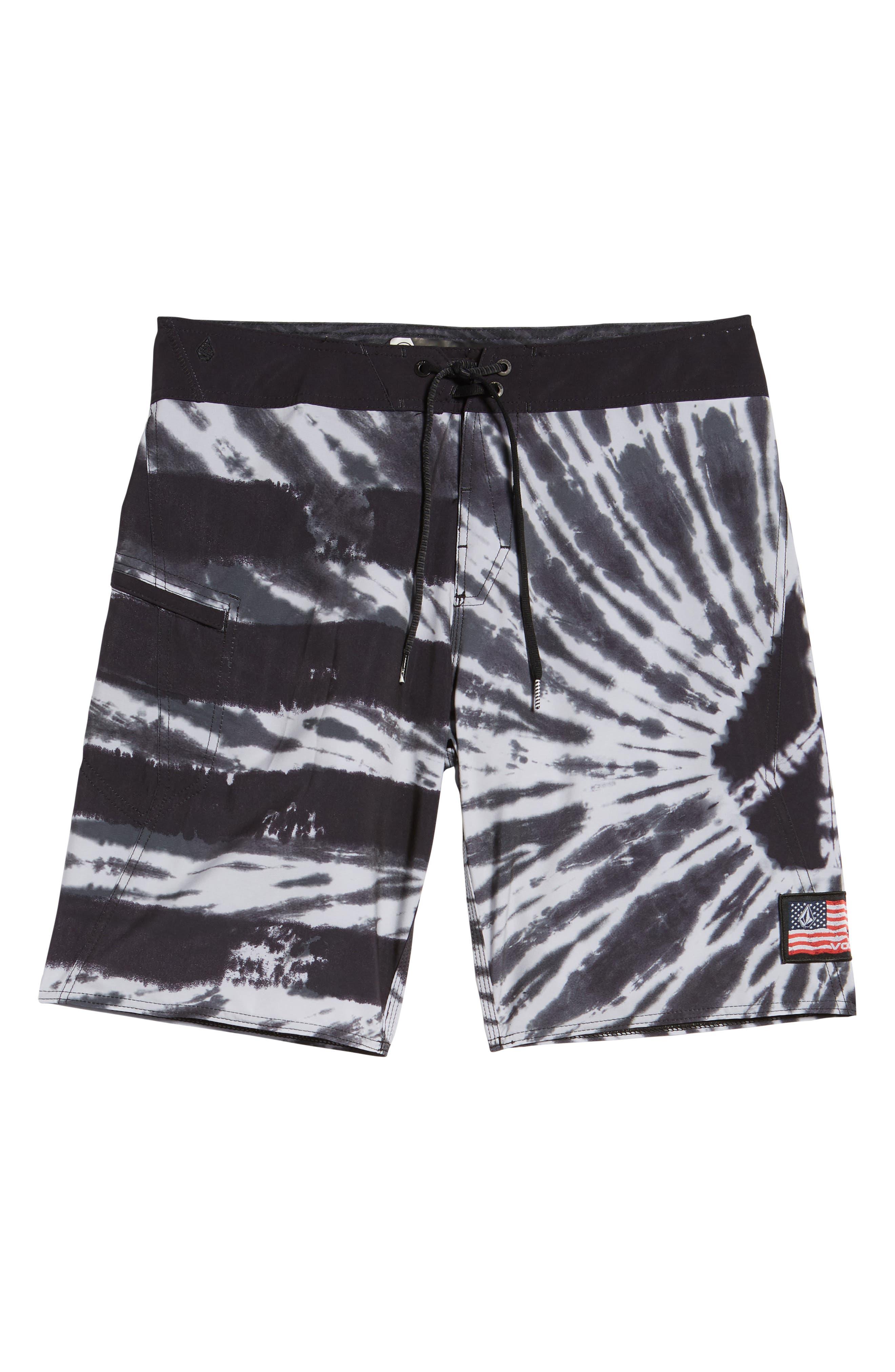 Peace Stoney Board Shorts,                             Alternate thumbnail 5, color,                             Grey