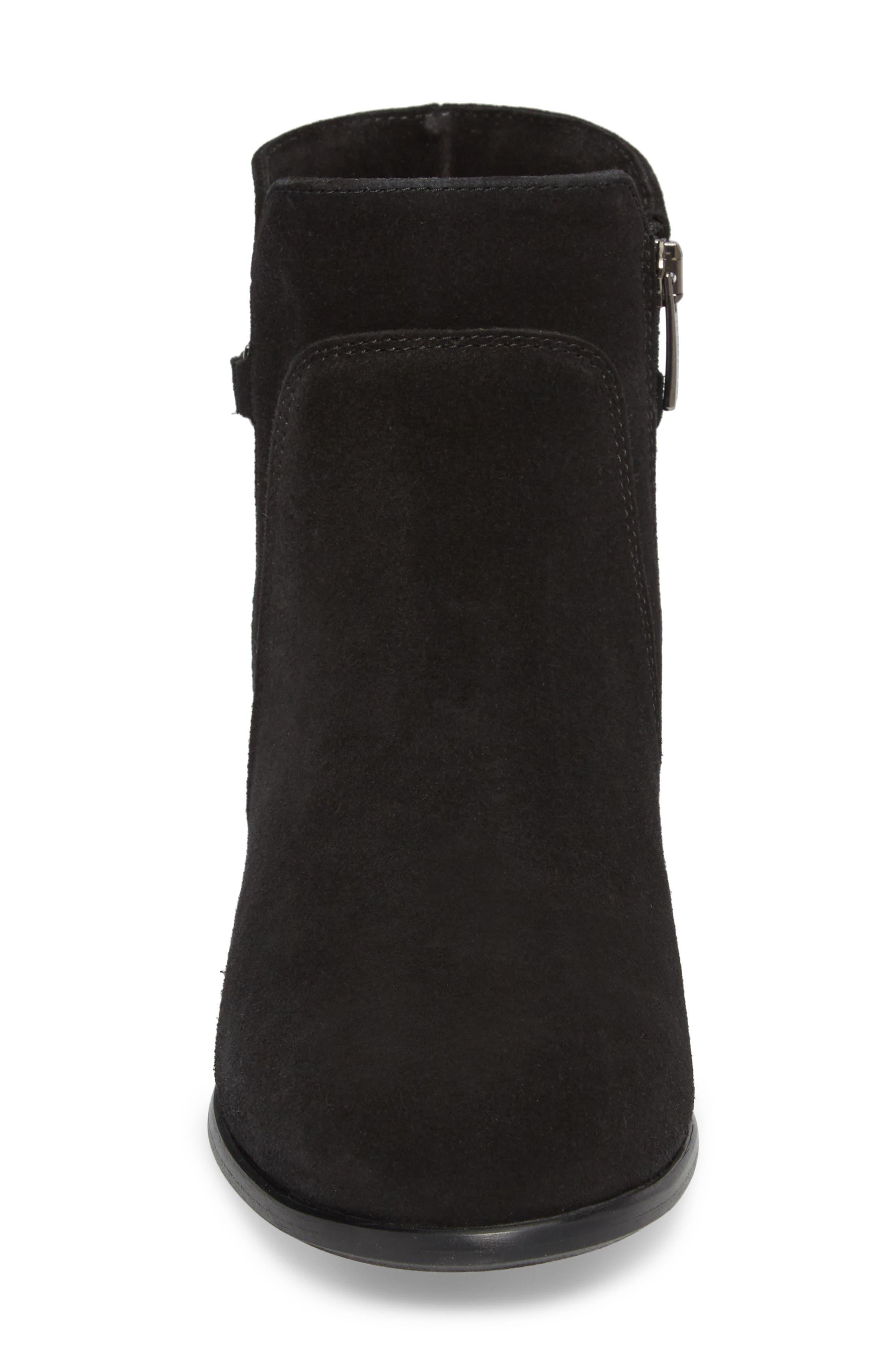 Sicilia Waterproof Boot,                             Alternate thumbnail 4, color,                             Black Suede