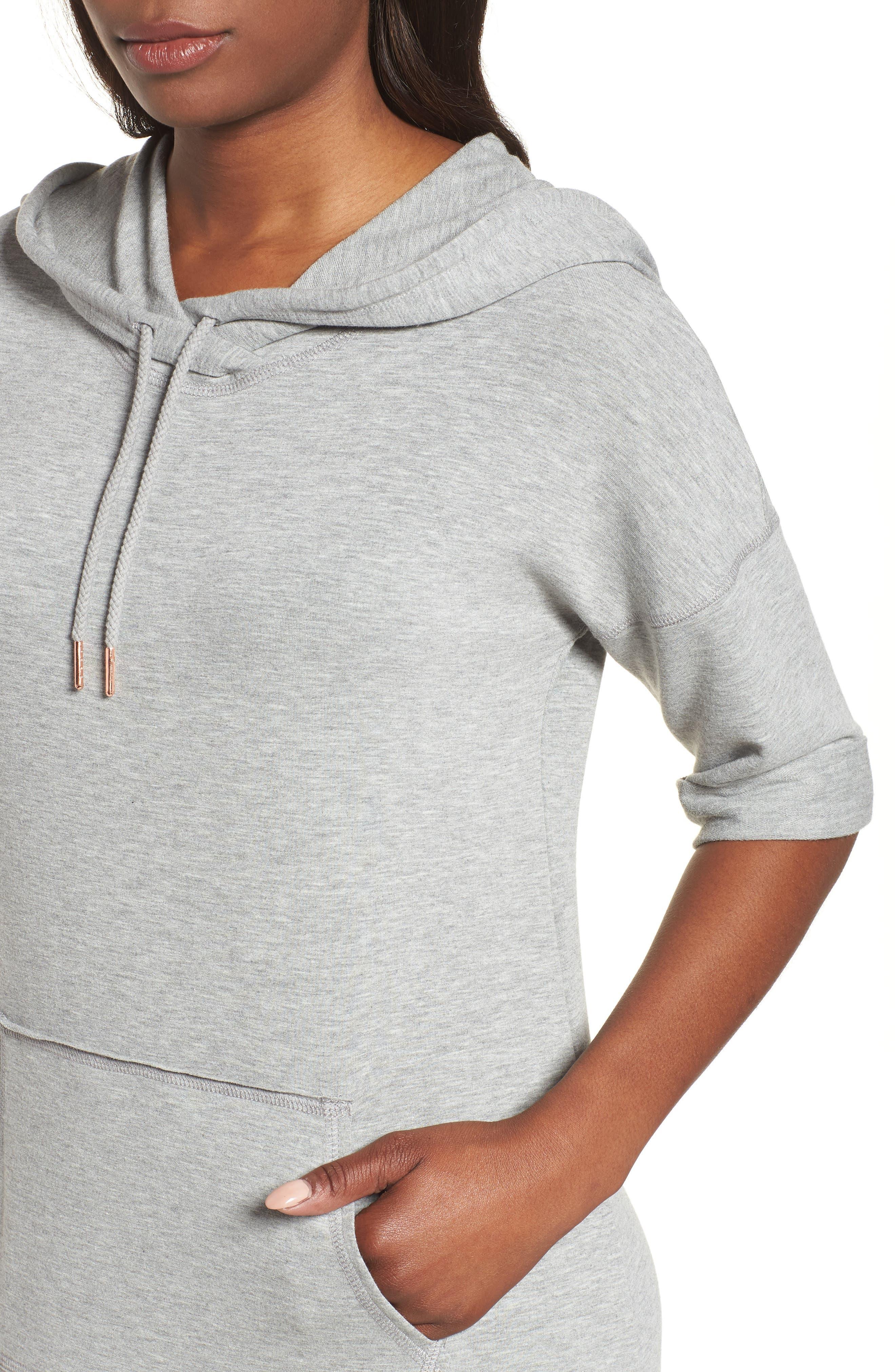Off-Duty Knit Maxi Dress,                             Alternate thumbnail 4, color,                             Grey Heather