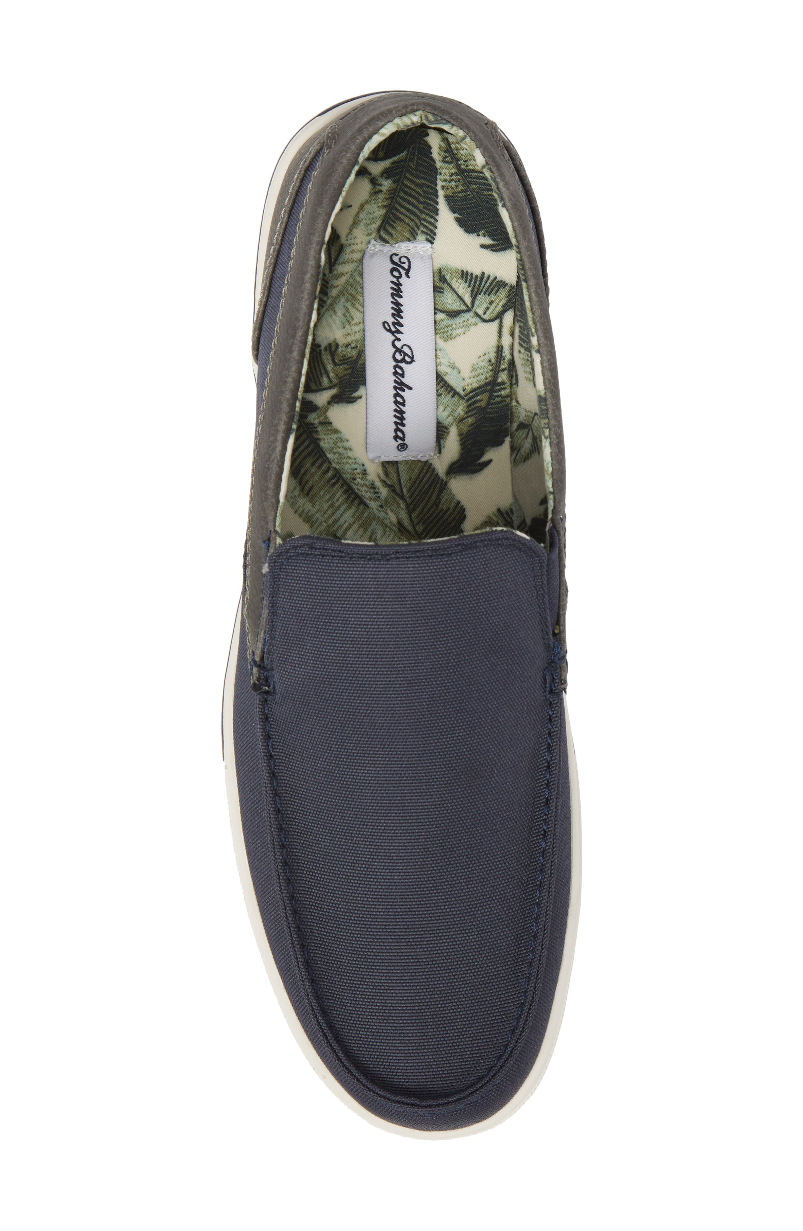 Calderon Loafer,                             Alternate thumbnail 5, color,                             Navy Canvas/ Leather