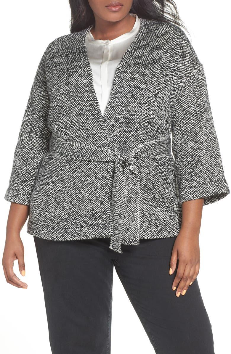 Organic Cotton Tweed Kimono Jacket