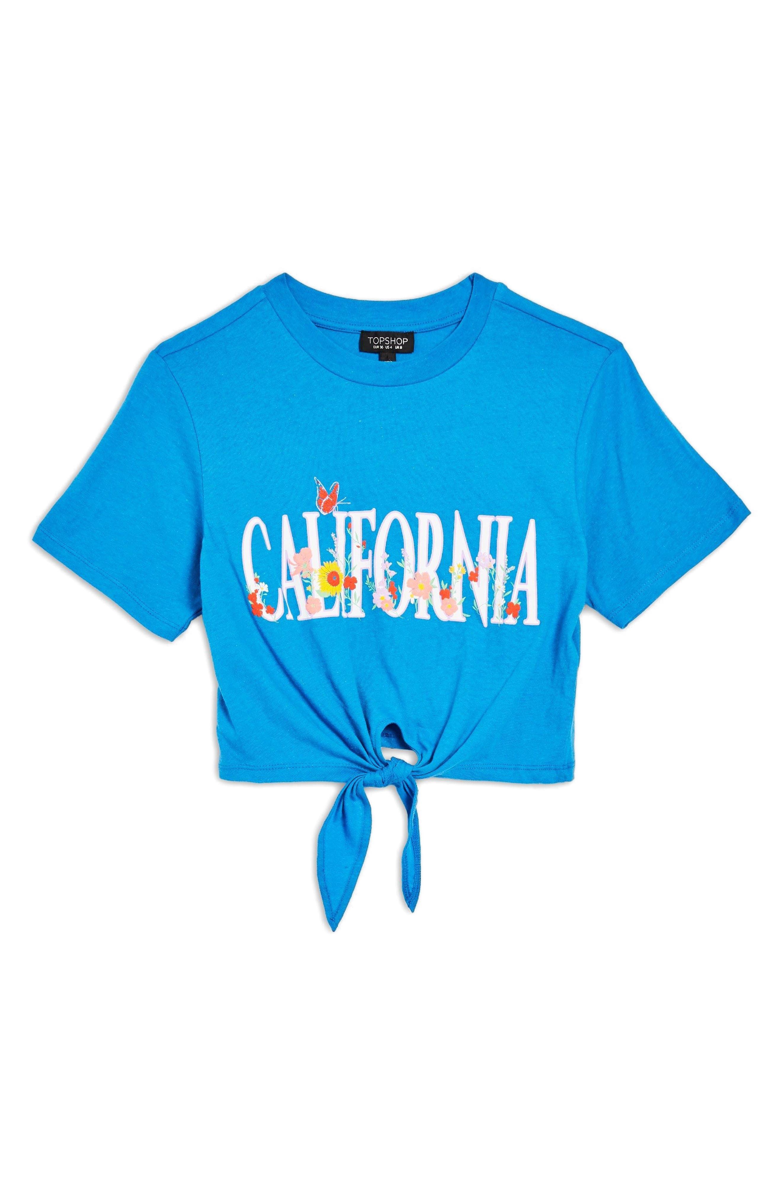 California Crop Tee,                             Alternate thumbnail 4, color,                             Blue Multi