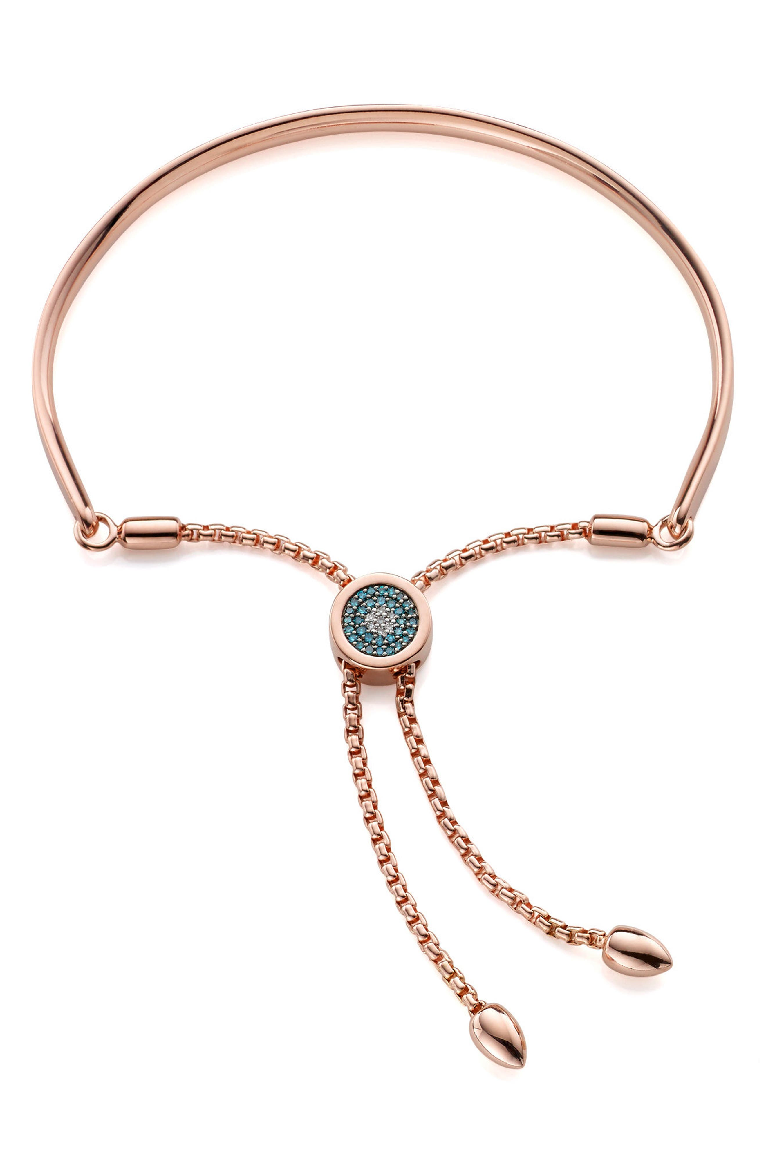 Fiji Evil Eye Diamond Bracelet by Monica Vinader