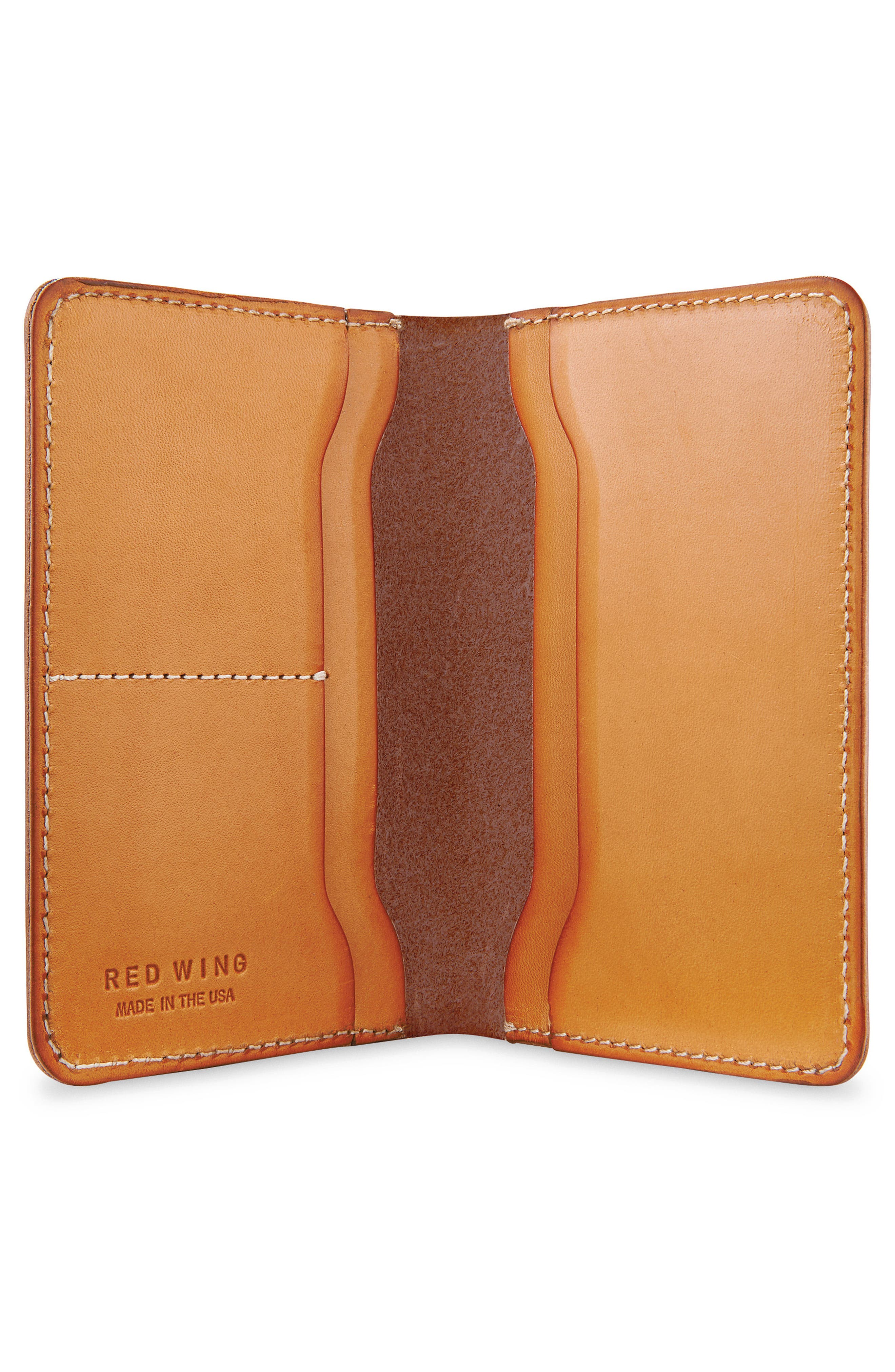 Leather Passport Wallet,                             Alternate thumbnail 2, color,                             Tanned Vegetable