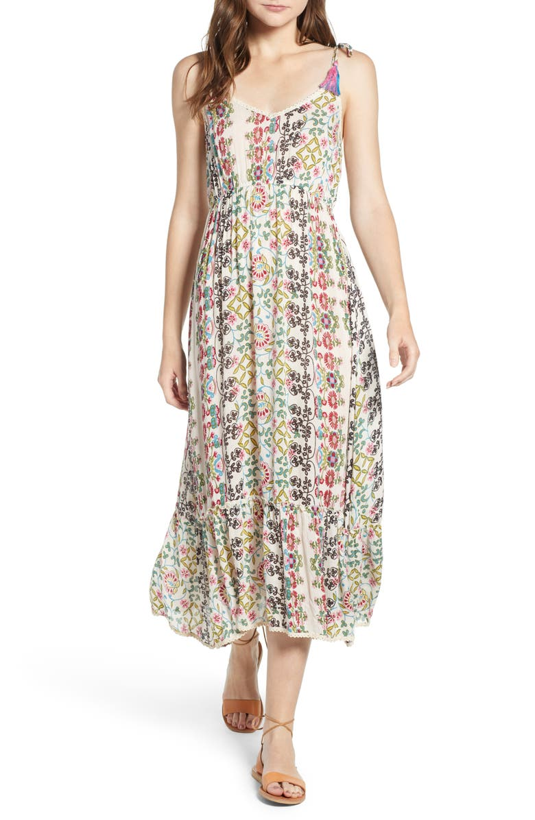 Yasmin Print Midi Dress
