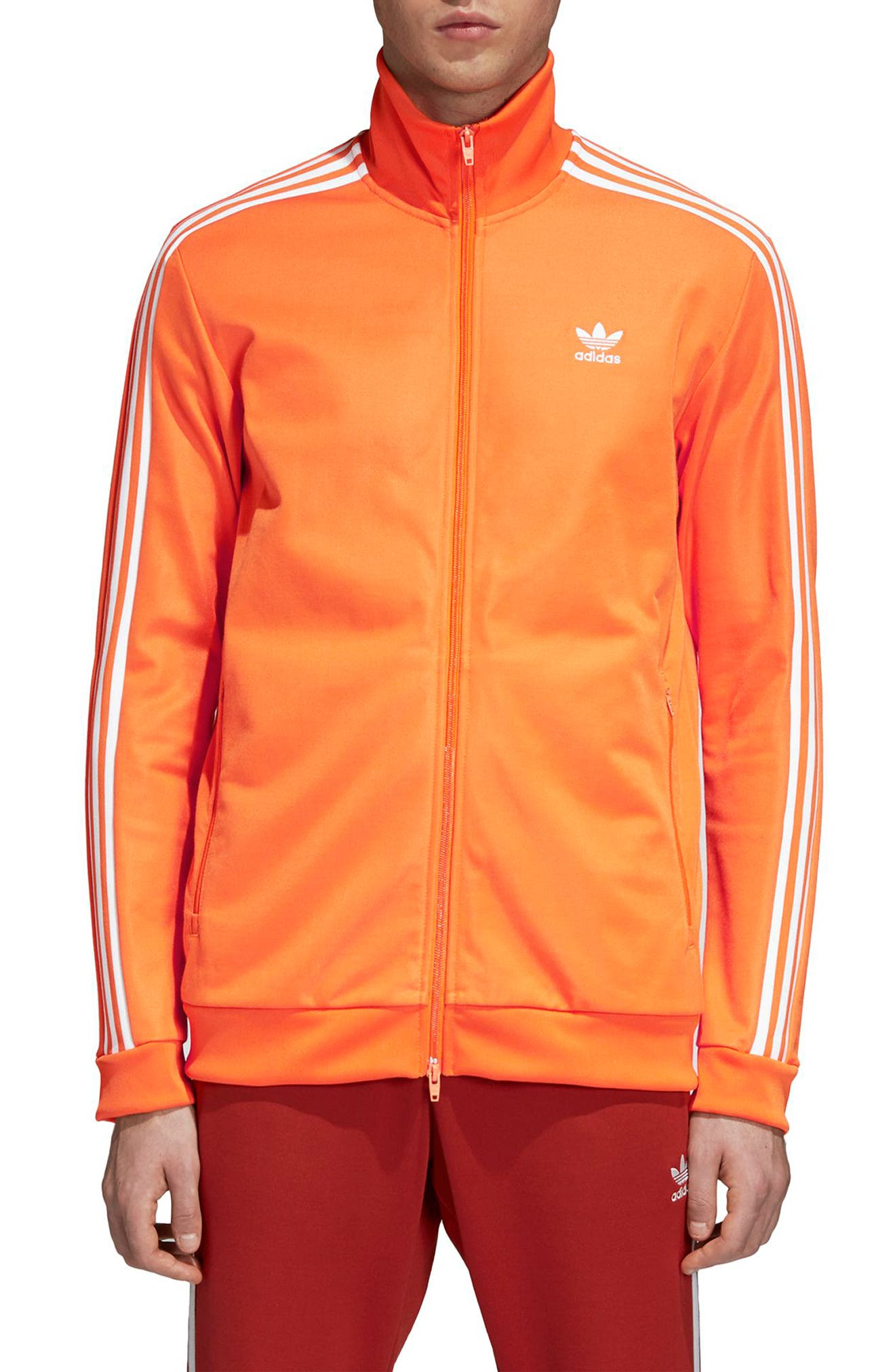BB Track Jacket,                         Main,                         color, Bright Orange