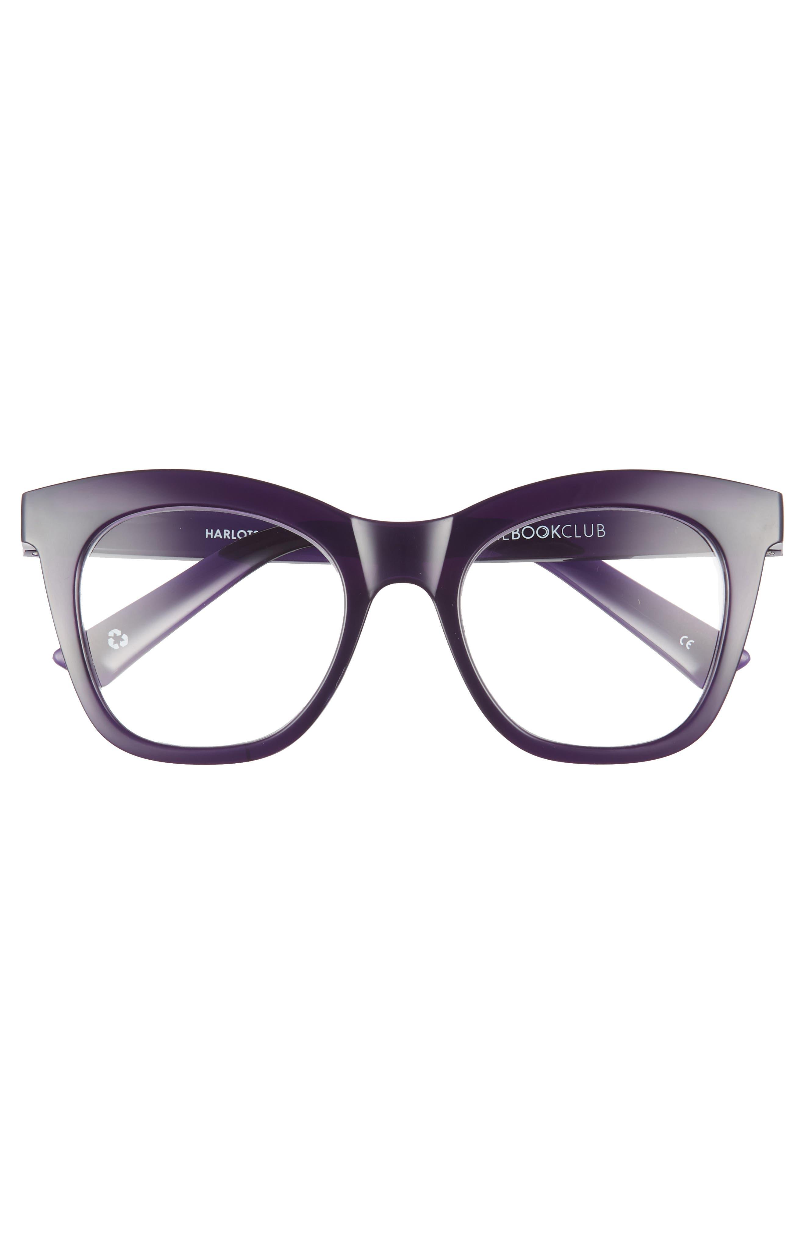 Harlot's Bed 51mm Reading Glasses,                             Alternate thumbnail 3, color,                             Deep Purple
