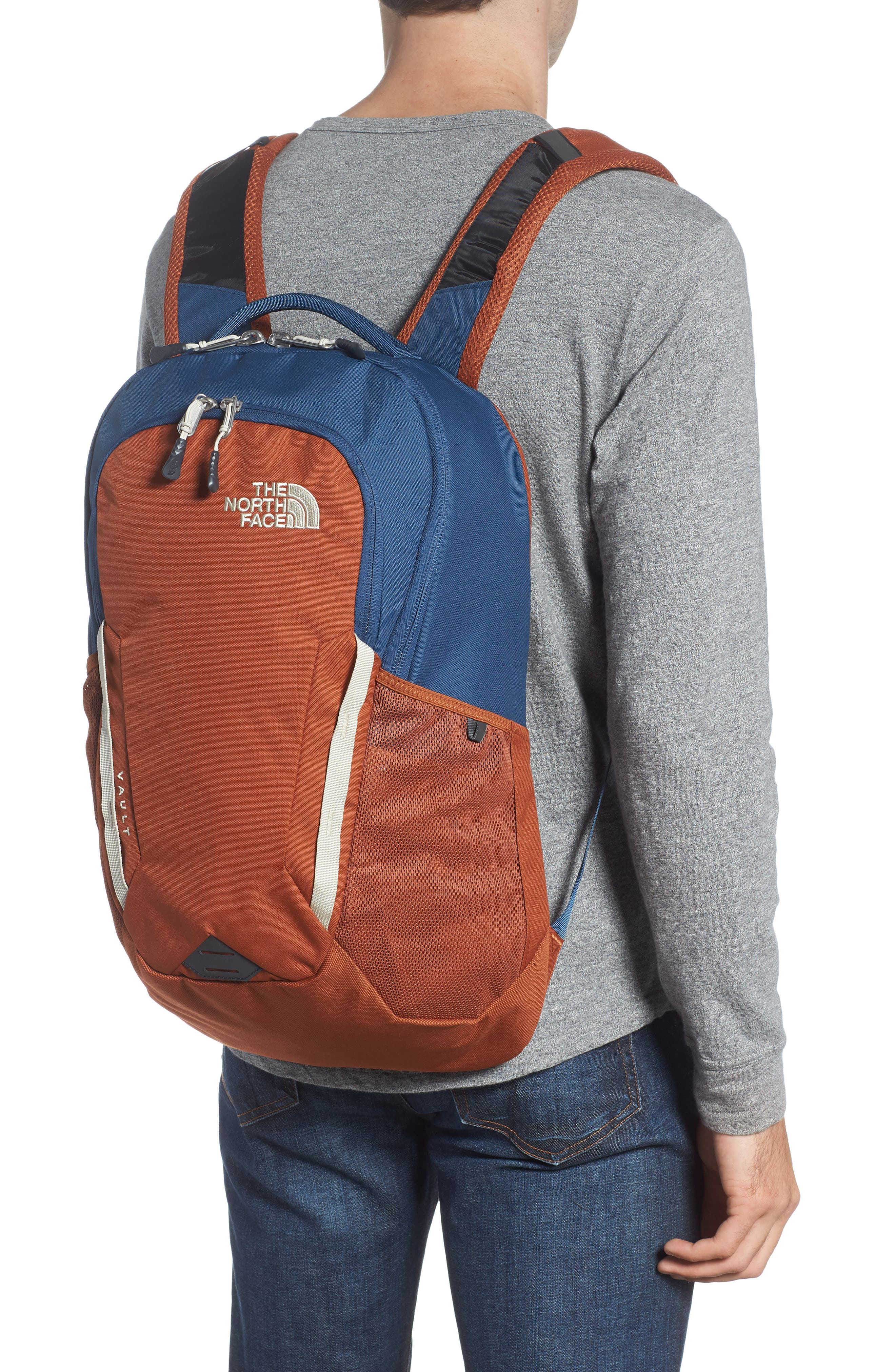 Vault Backpack,                             Alternate thumbnail 2, color,                             Shady Blue/ Gingerbread