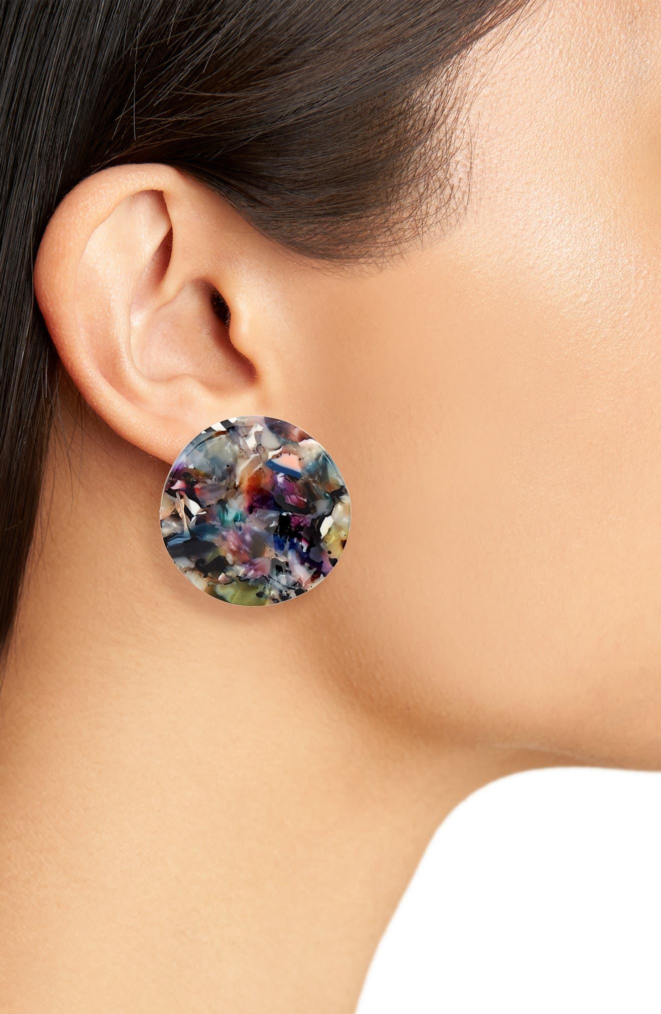 Sasha Stud Earrings,                             Alternate thumbnail 2, color,                             Multi
