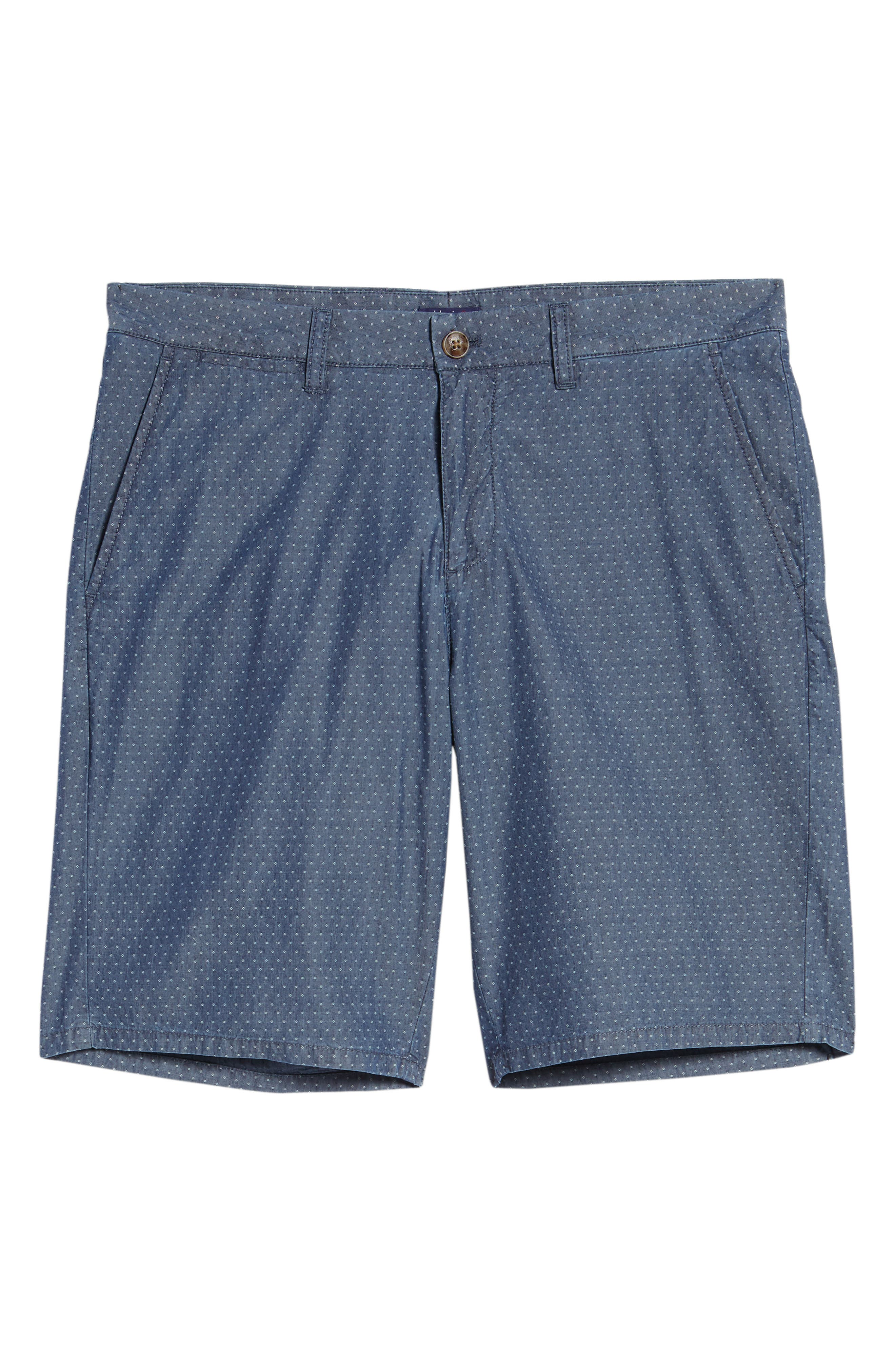 Oliver Classic Fit Chambray Jacquard Shorts,                             Alternate thumbnail 6, color,                             Chambray