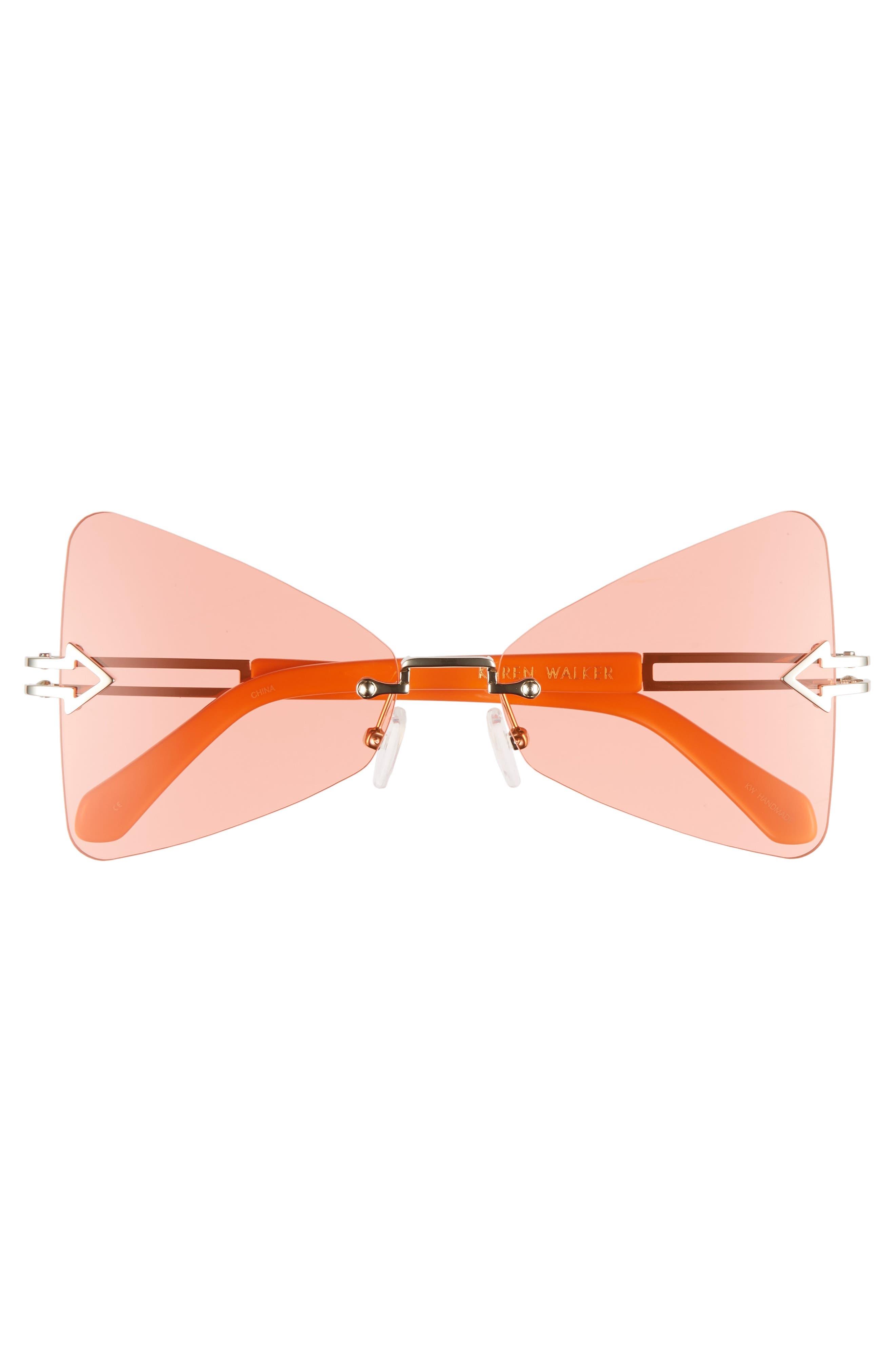 Paradise 57mm Sunglasses,                             Alternate thumbnail 3, color,                             Tangerine/ Coral