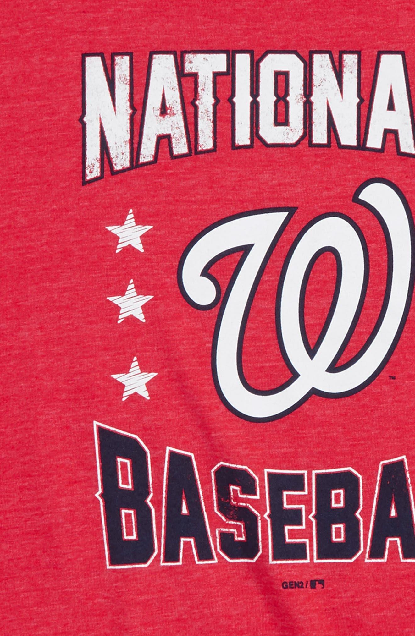 Washington Nationals Triple Play T-Shirt,                             Alternate thumbnail 2, color,                             Red