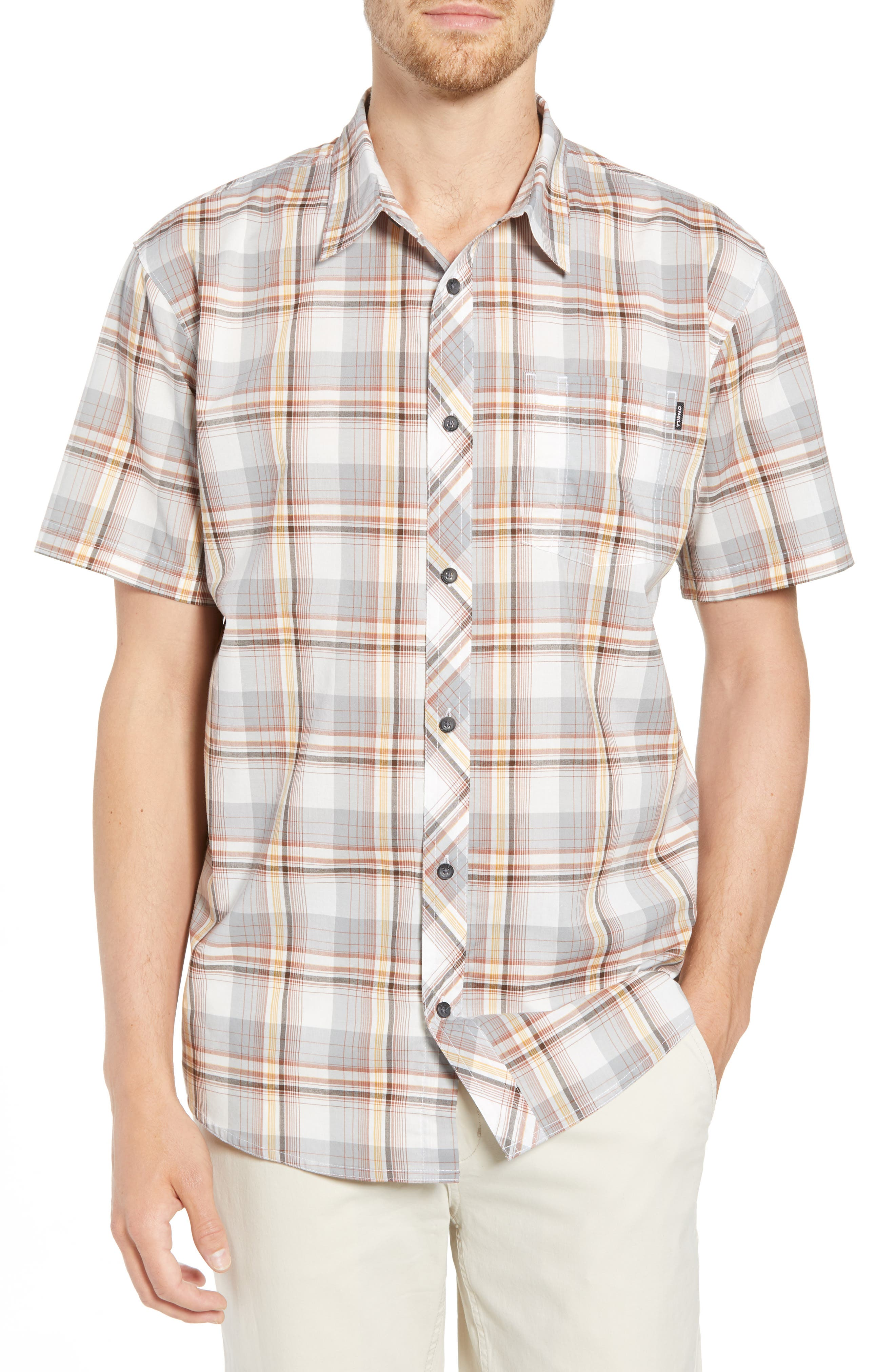 Gentry Short Sleeve Shirt,                             Main thumbnail 1, color,                             White