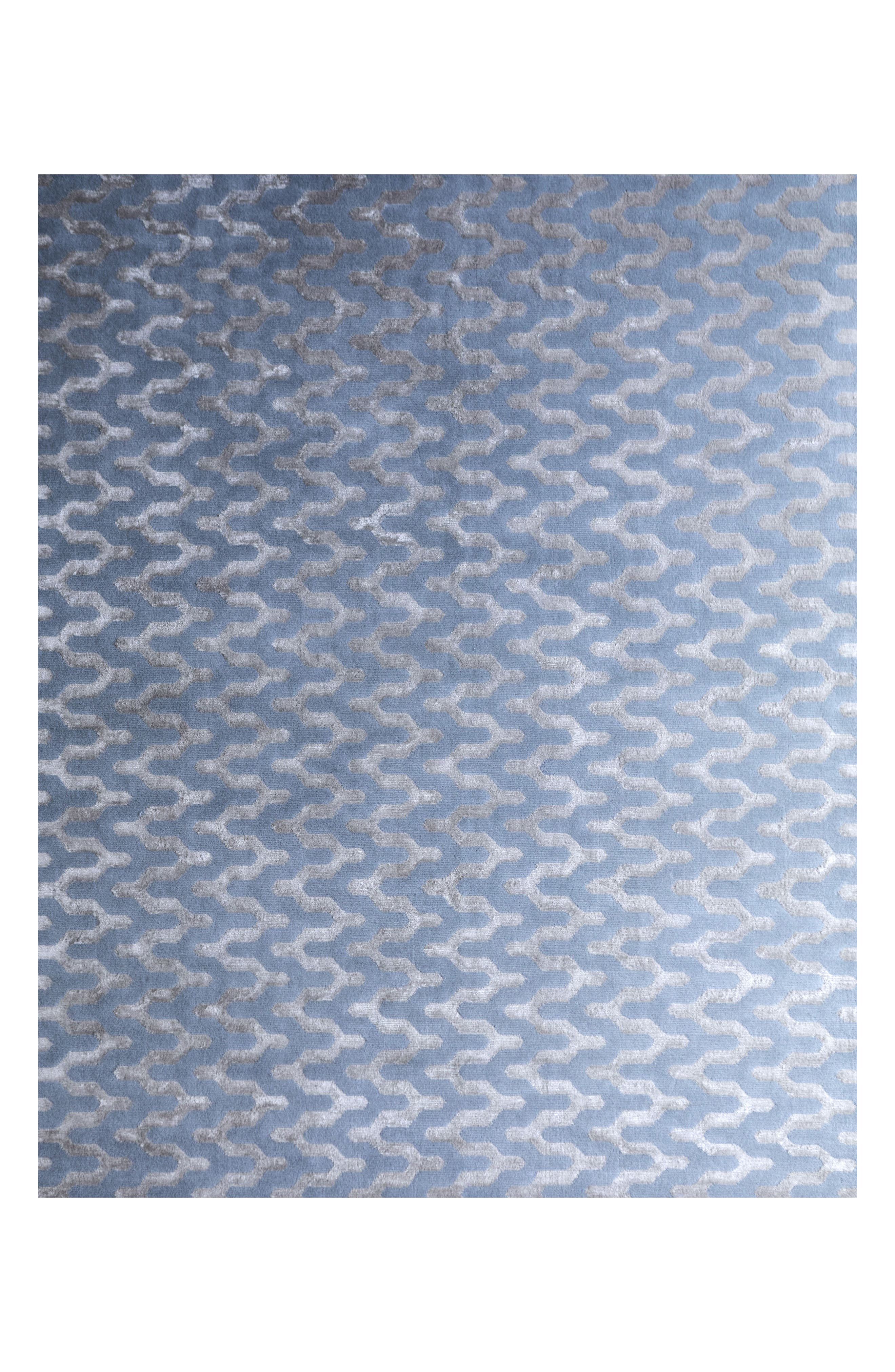 Waves Rug,                         Main,                         color, Blue Fawn