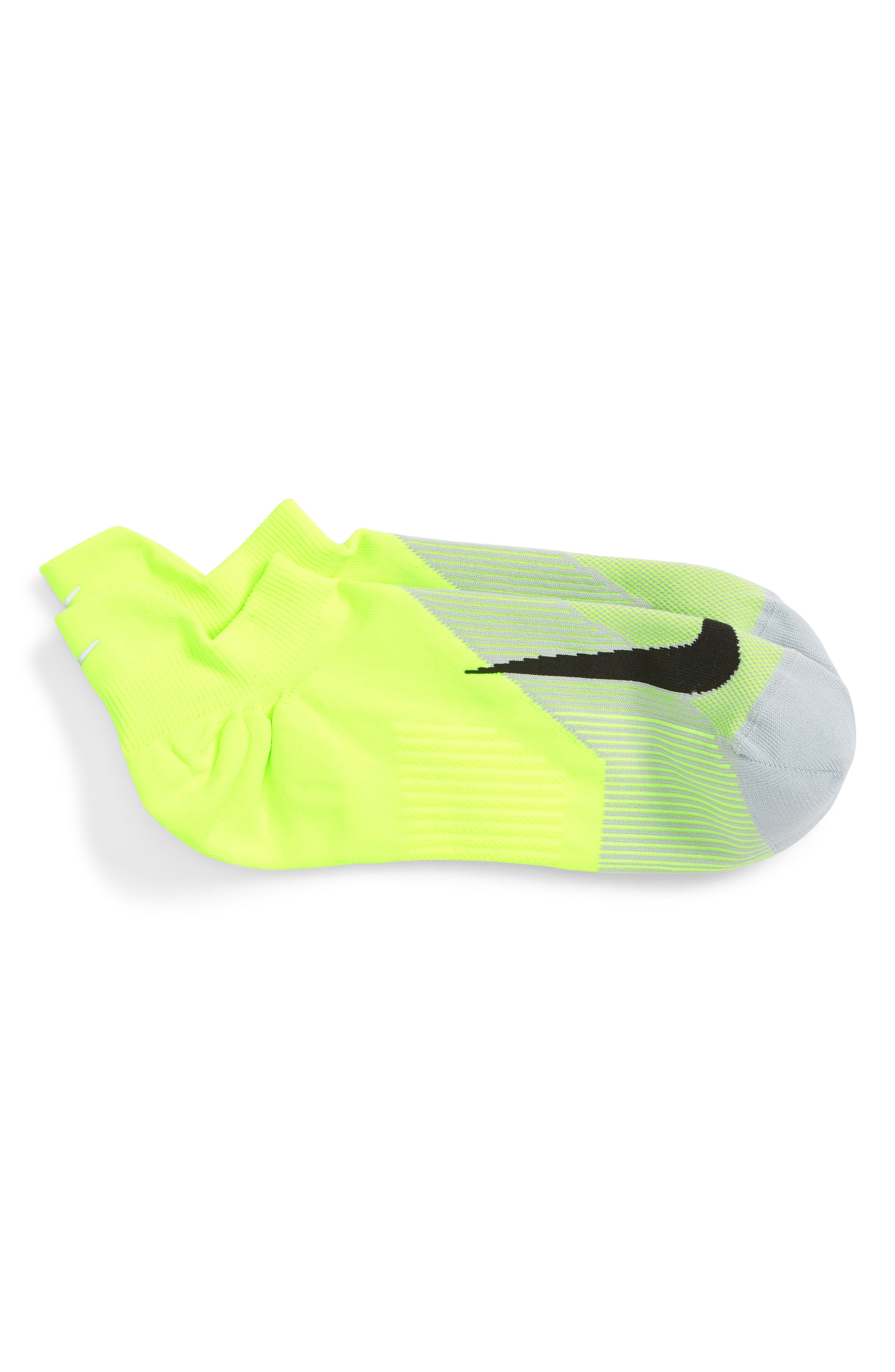 Elite Lightweight No-Show Socks,                             Main thumbnail 1, color,                             Volt/ Wolf Grey