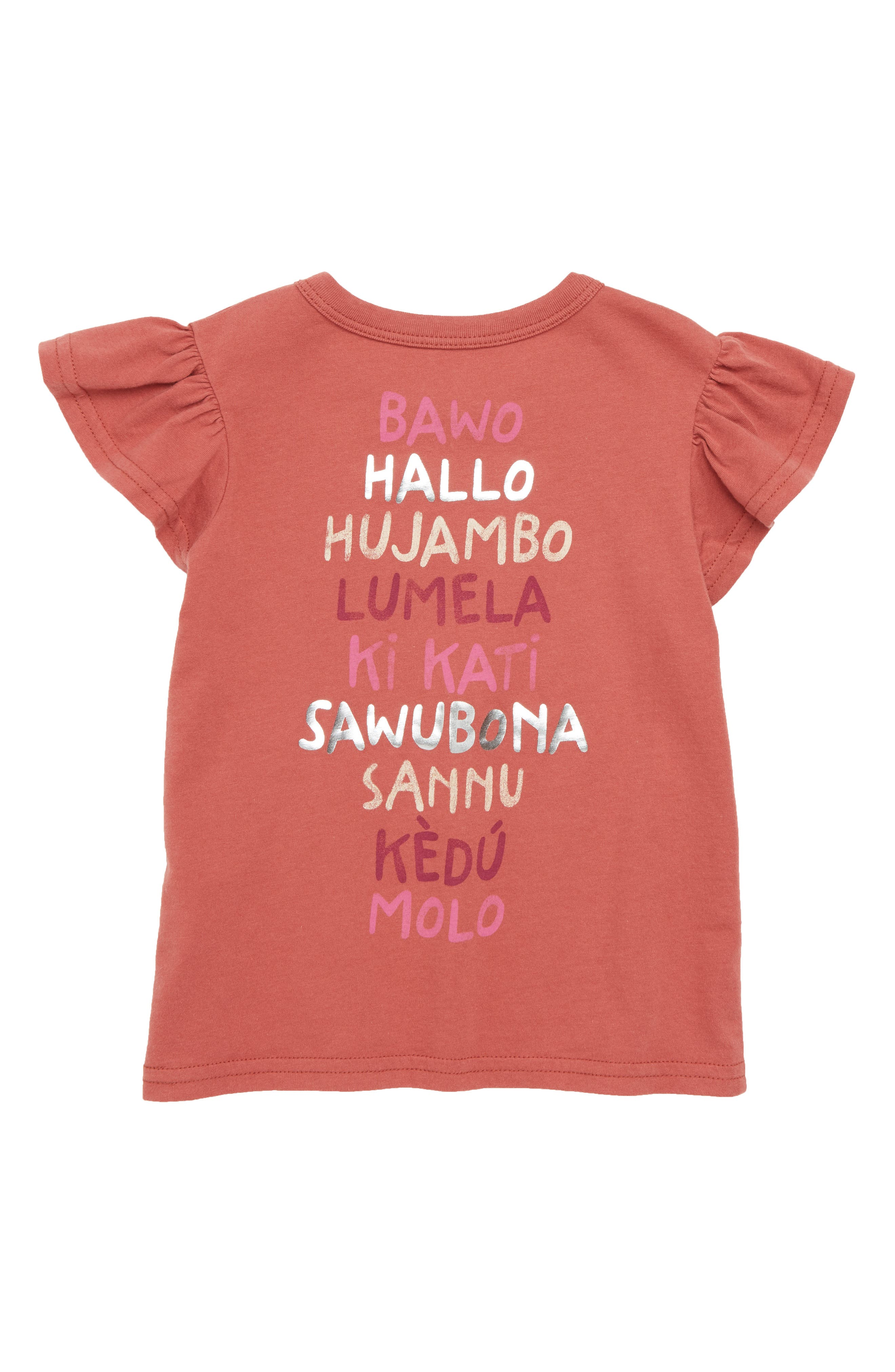 Hello From Africa Graphic Tee,                             Alternate thumbnail 2, color,                             Rust