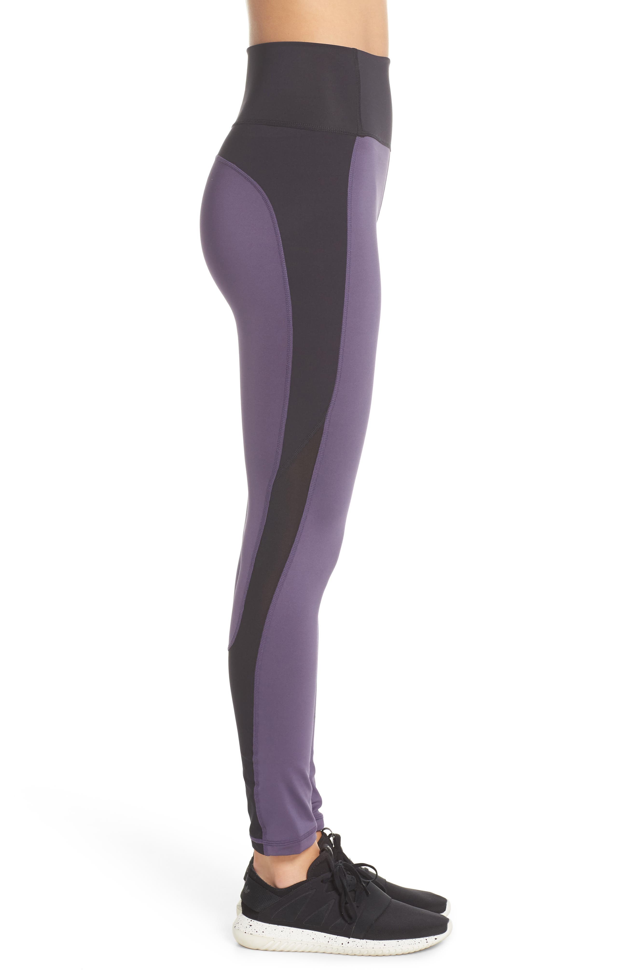 Believe This High Waist Tights,                             Alternate thumbnail 5, color,                             Trace Purple