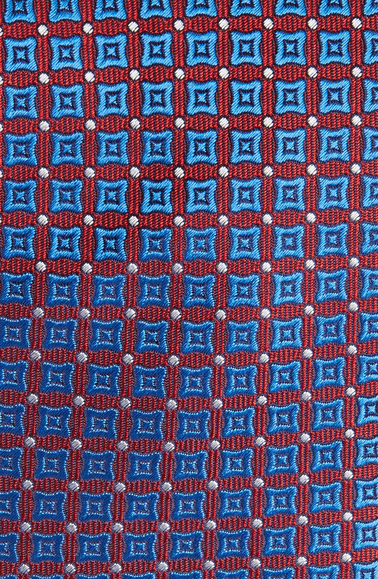 Neat Silk Tie,                             Alternate thumbnail 2, color,                             Red