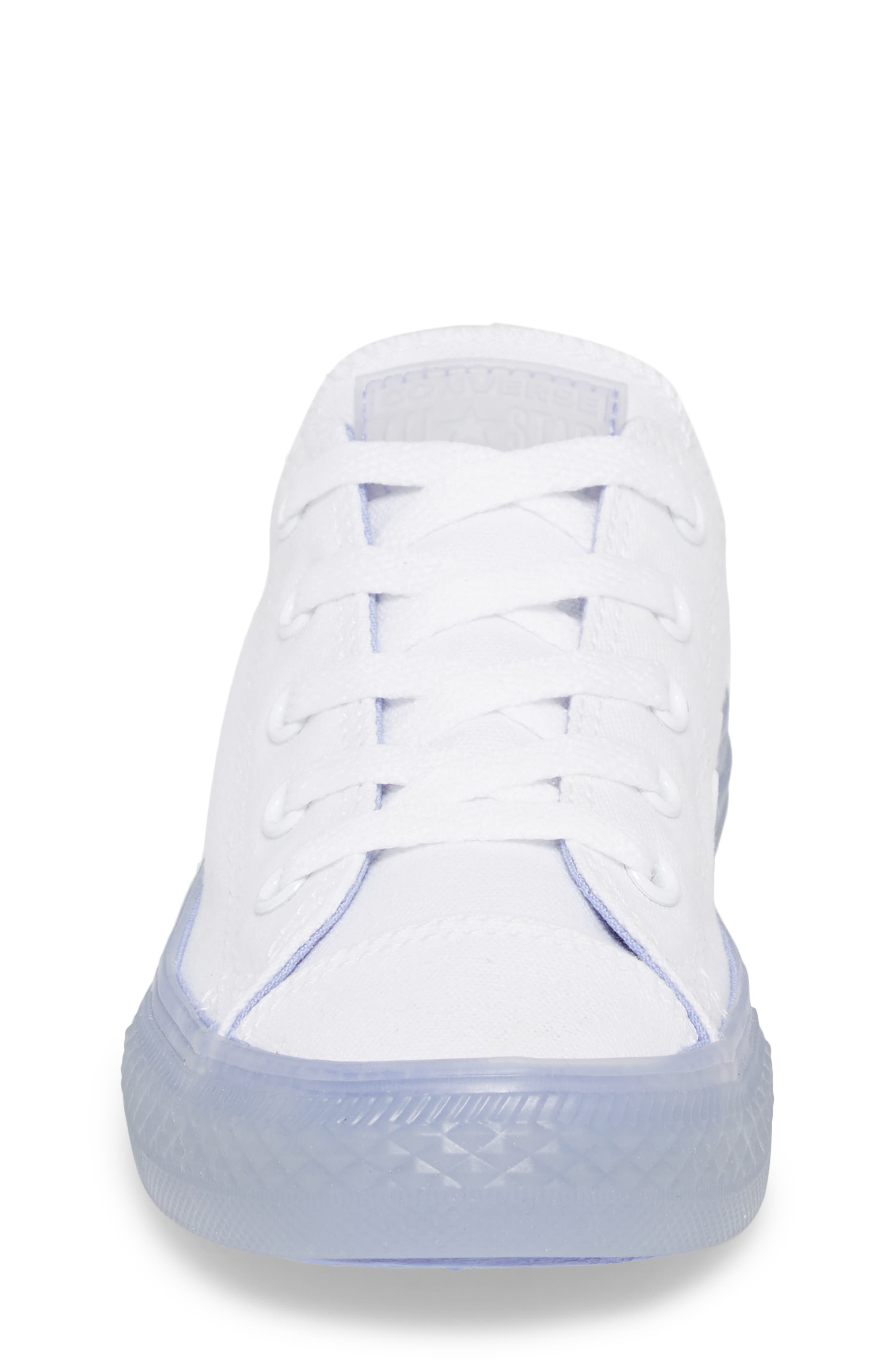 Chuck Taylor<sup>®</sup> All Star<sup>®</sup> Jelly Low Top Sneaker,                             Alternate thumbnail 4, color,                             Purple