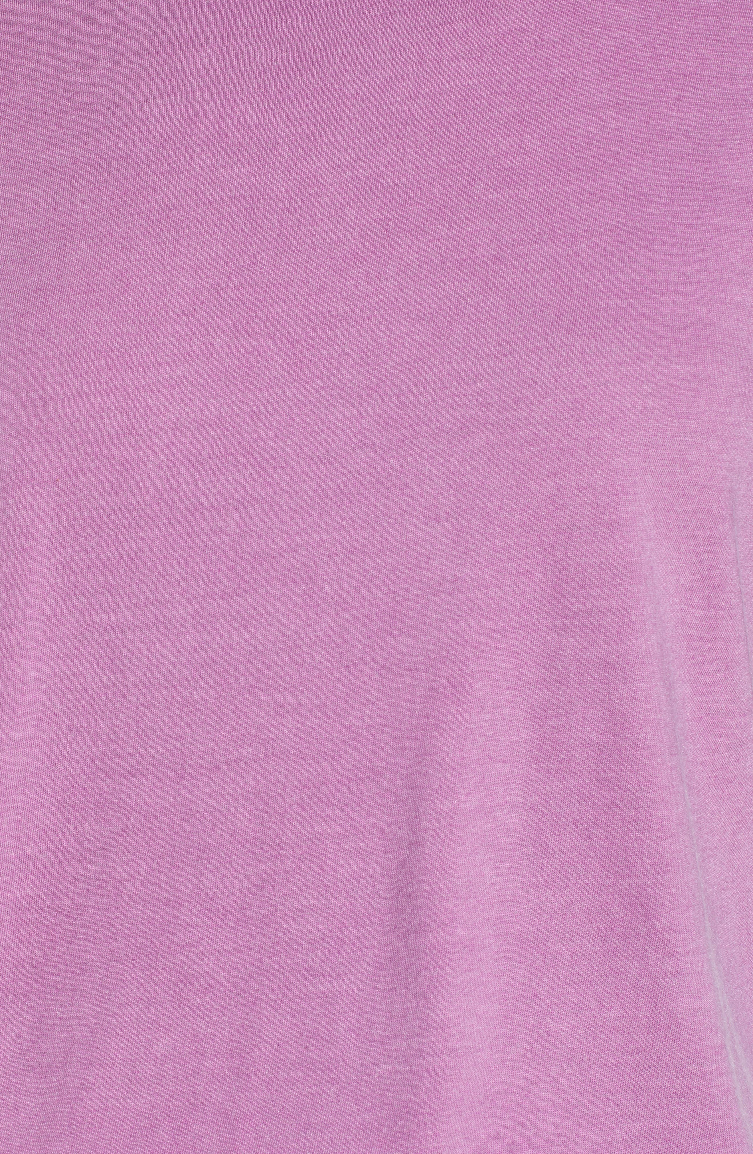 Washed Crew Tee,                             Alternate thumbnail 5, color,                             Purple Deep