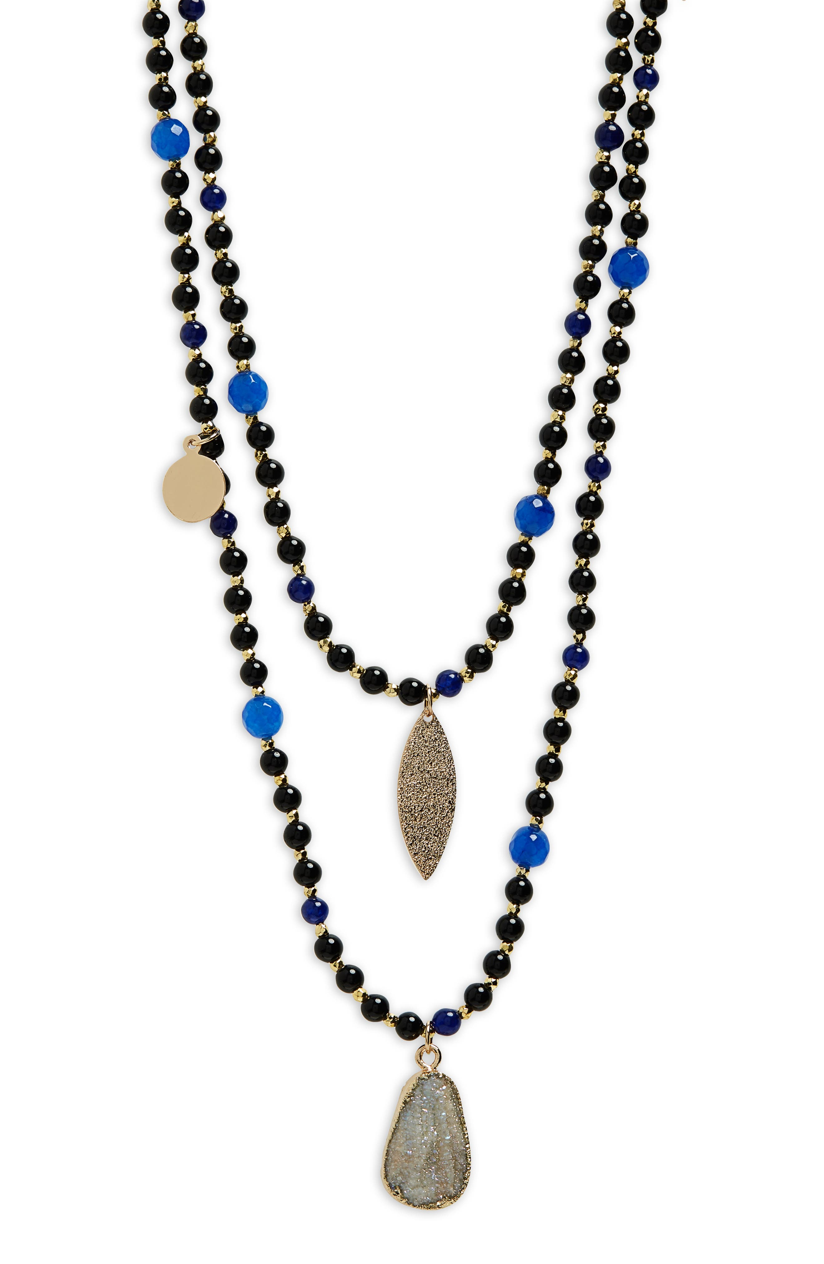 Layer Bead Necklace,                             Alternate thumbnail 2, color,                             Multi