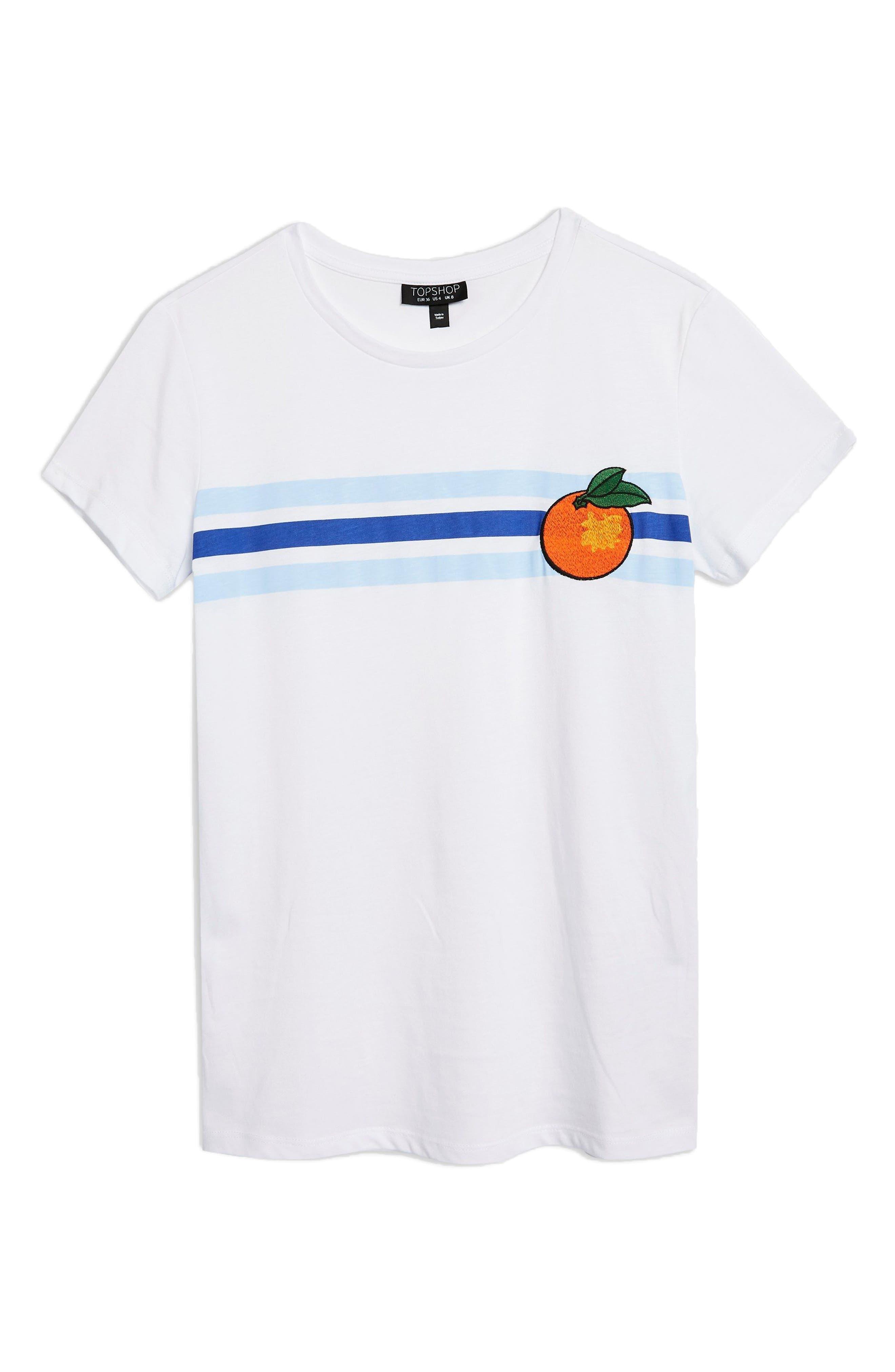 Satsuma Retro T-Shirt,                             Alternate thumbnail 5, color,                             White Multi