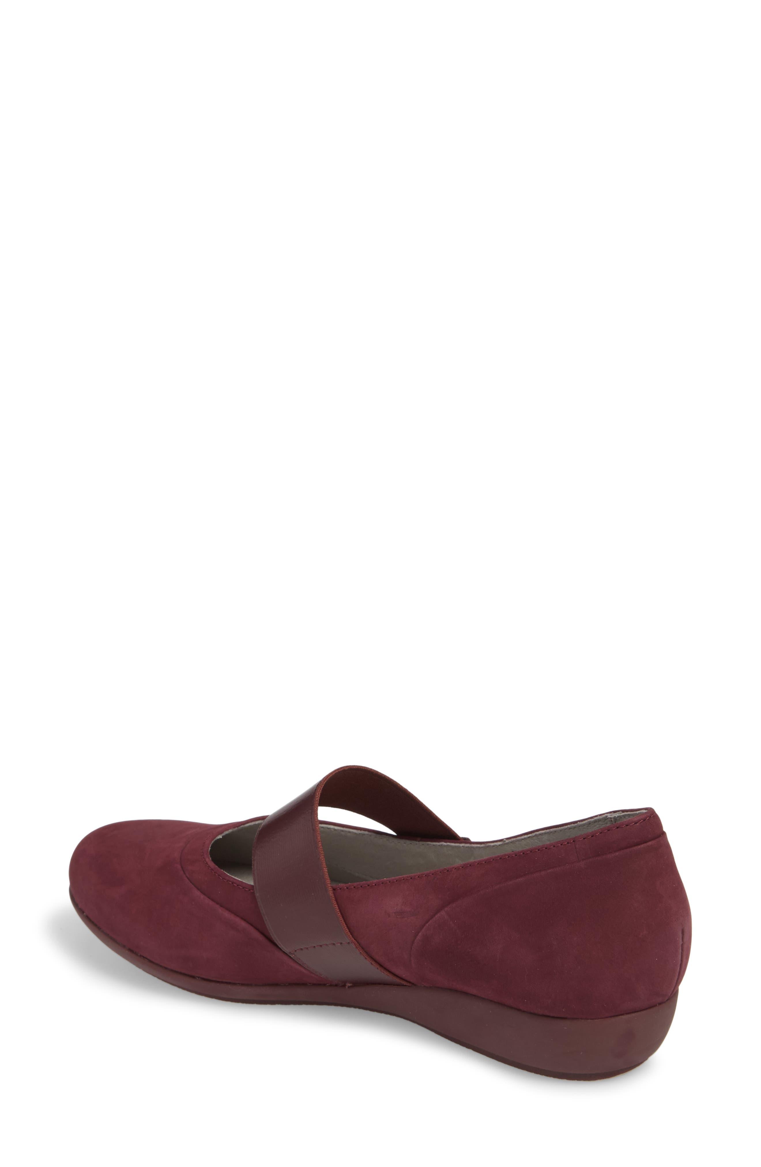 Kendra Mary Jane Wedge,                             Alternate thumbnail 2, color,                             Wine Milled Nubuck Leather