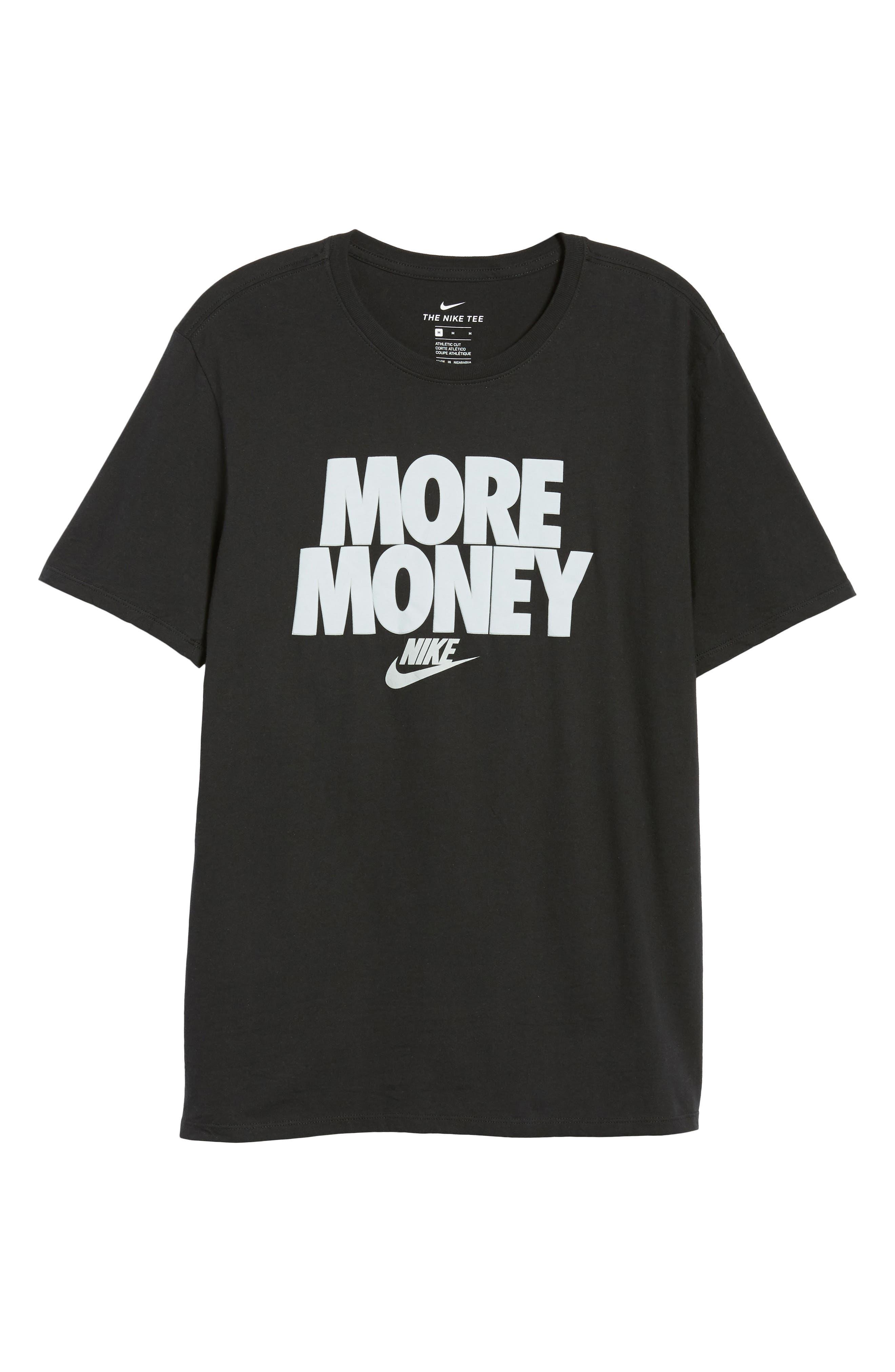 Sportswear More Money T-Shirt,                             Alternate thumbnail 6, color,                             Black/ Metallic Silver