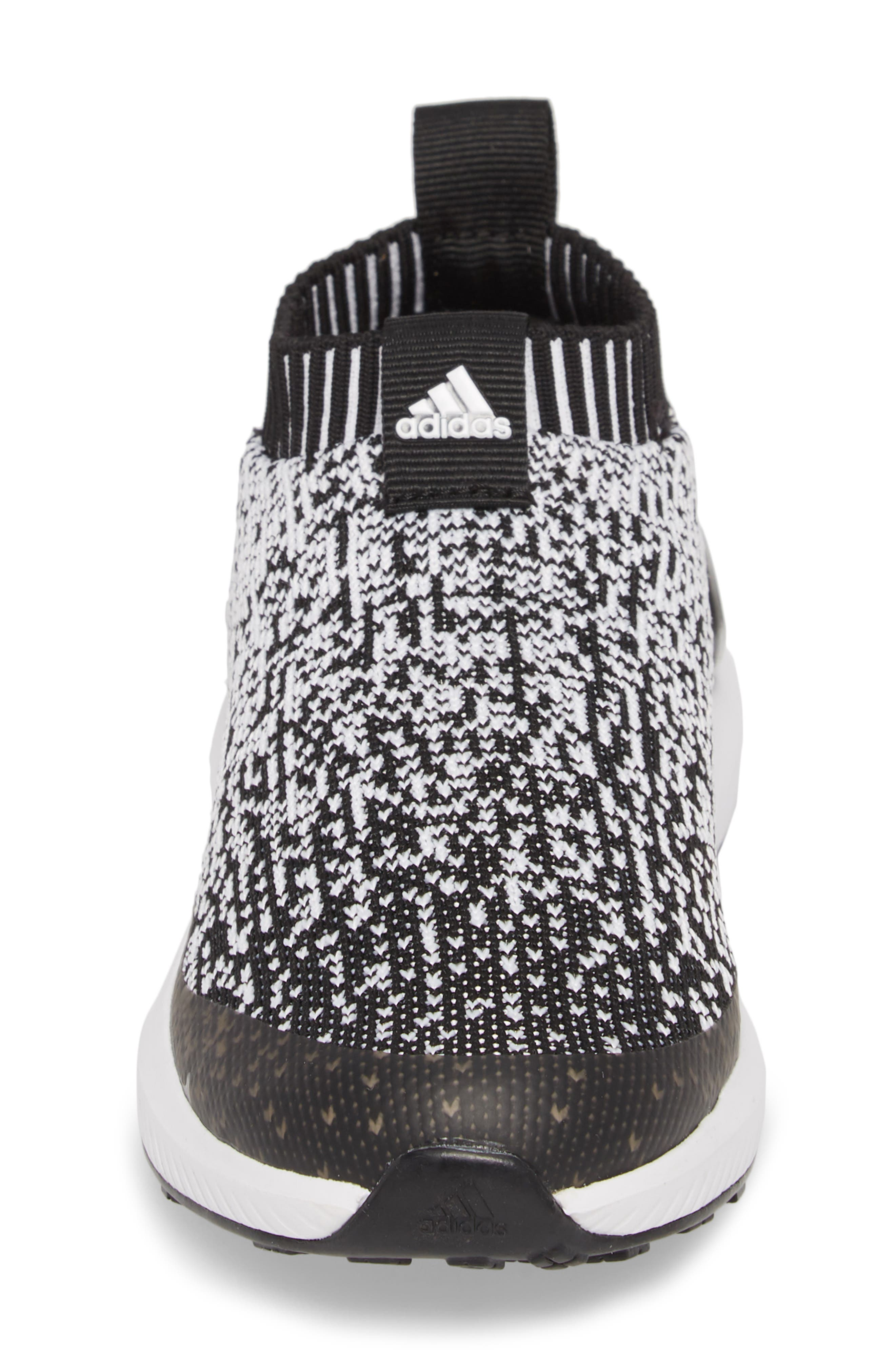 RapidaRun Laceless Knit Sneaker,                             Alternate thumbnail 6, color,                             Black/ White/ Black