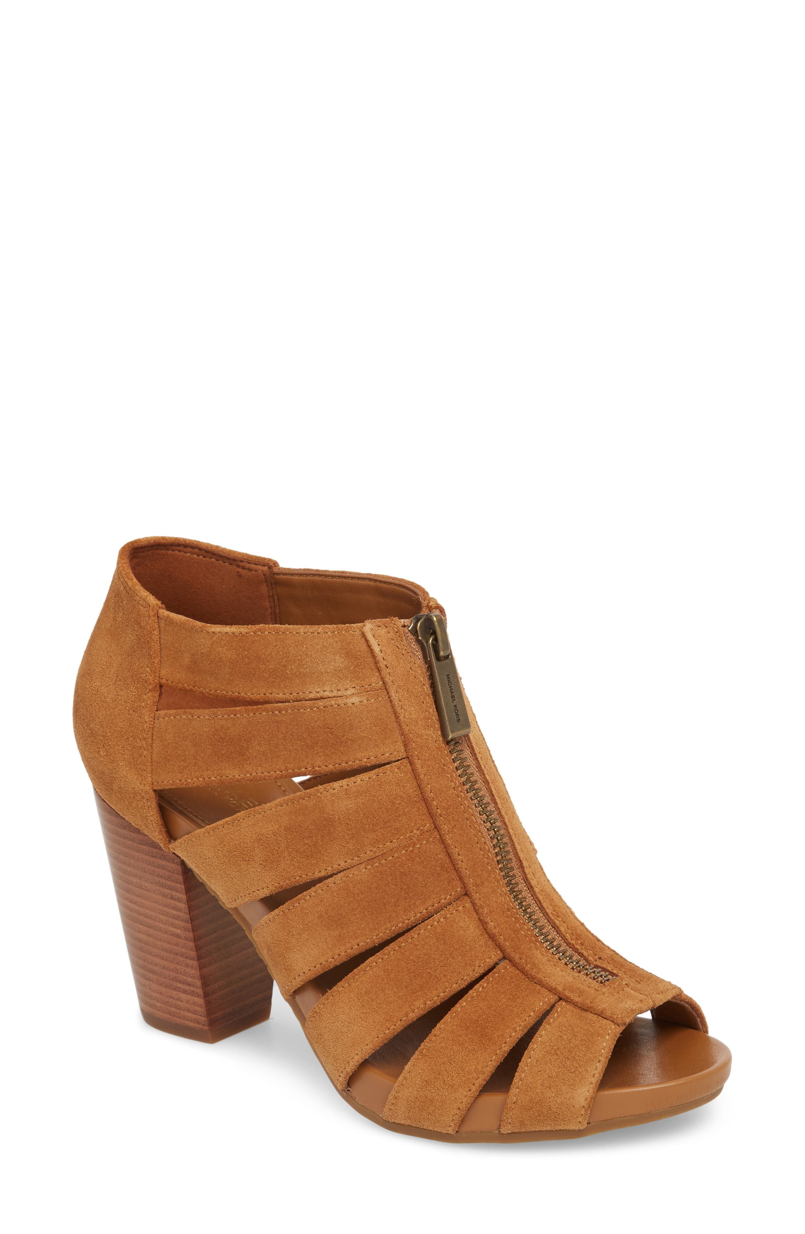 Sherry Cage Bootie,                             Main thumbnail 1, color,                             Acorn Suede