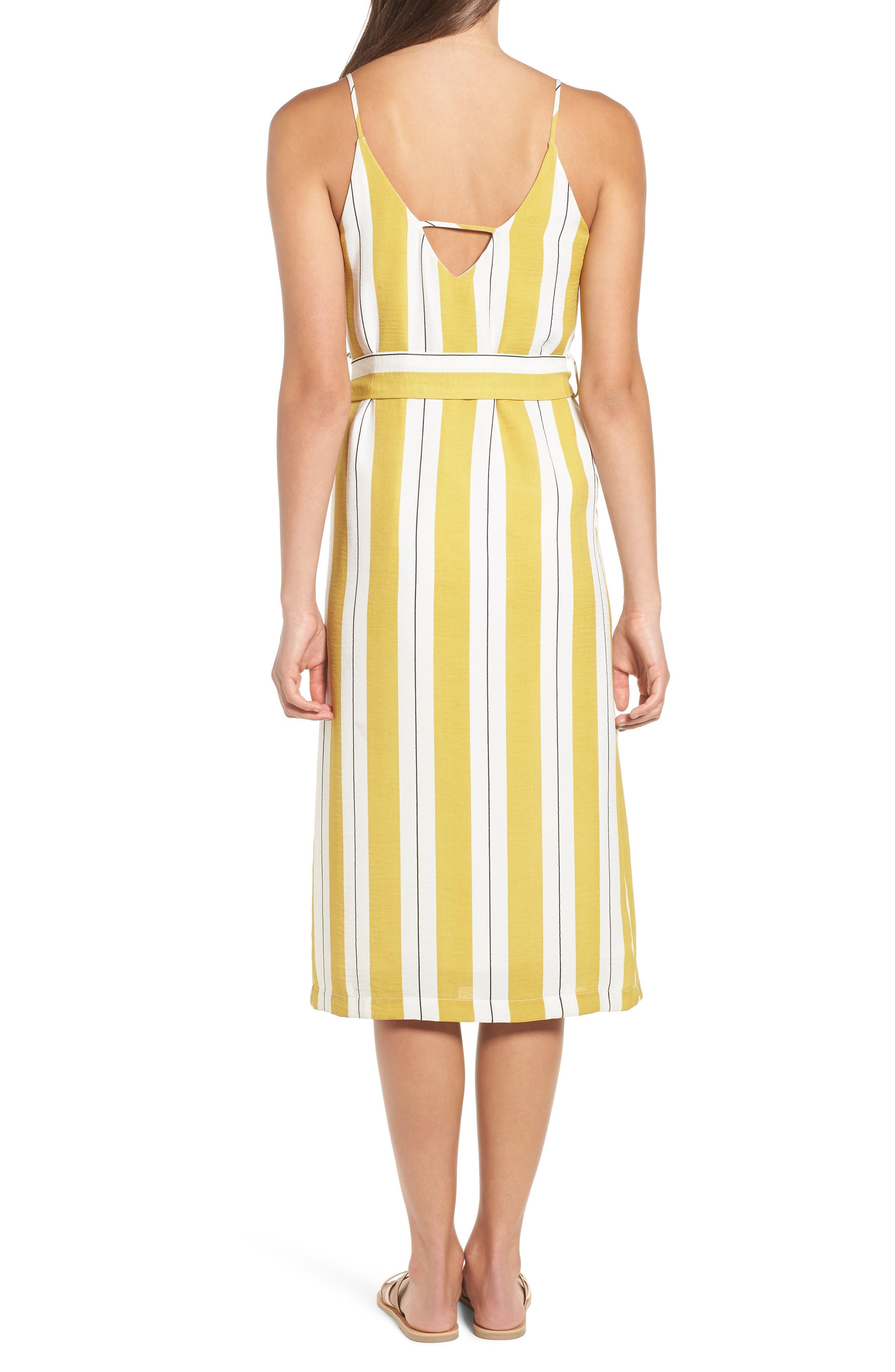 Stripe Midi Dress,                             Alternate thumbnail 2, color,                             Yellow Stripe Per Sample