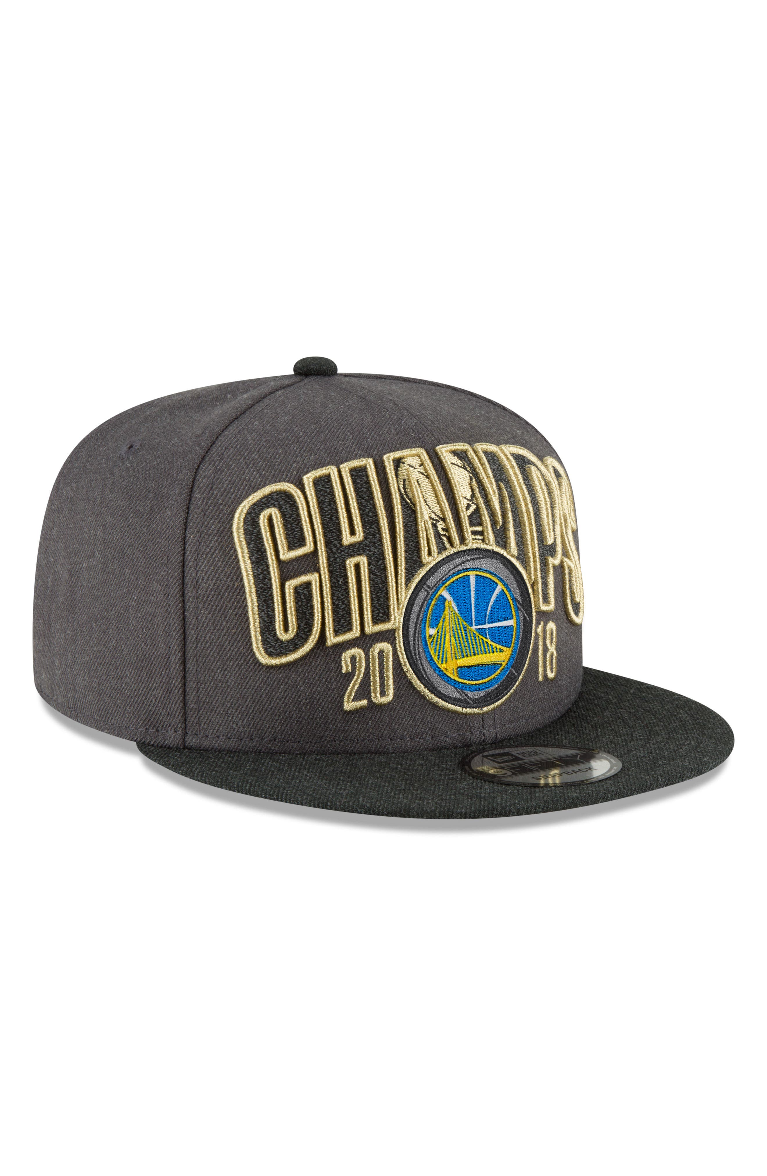 2018 NBA Champions - Golden State Warriors 9Fifty Snapback Cap,                             Main thumbnail 1, color,                             Golden State Warriors