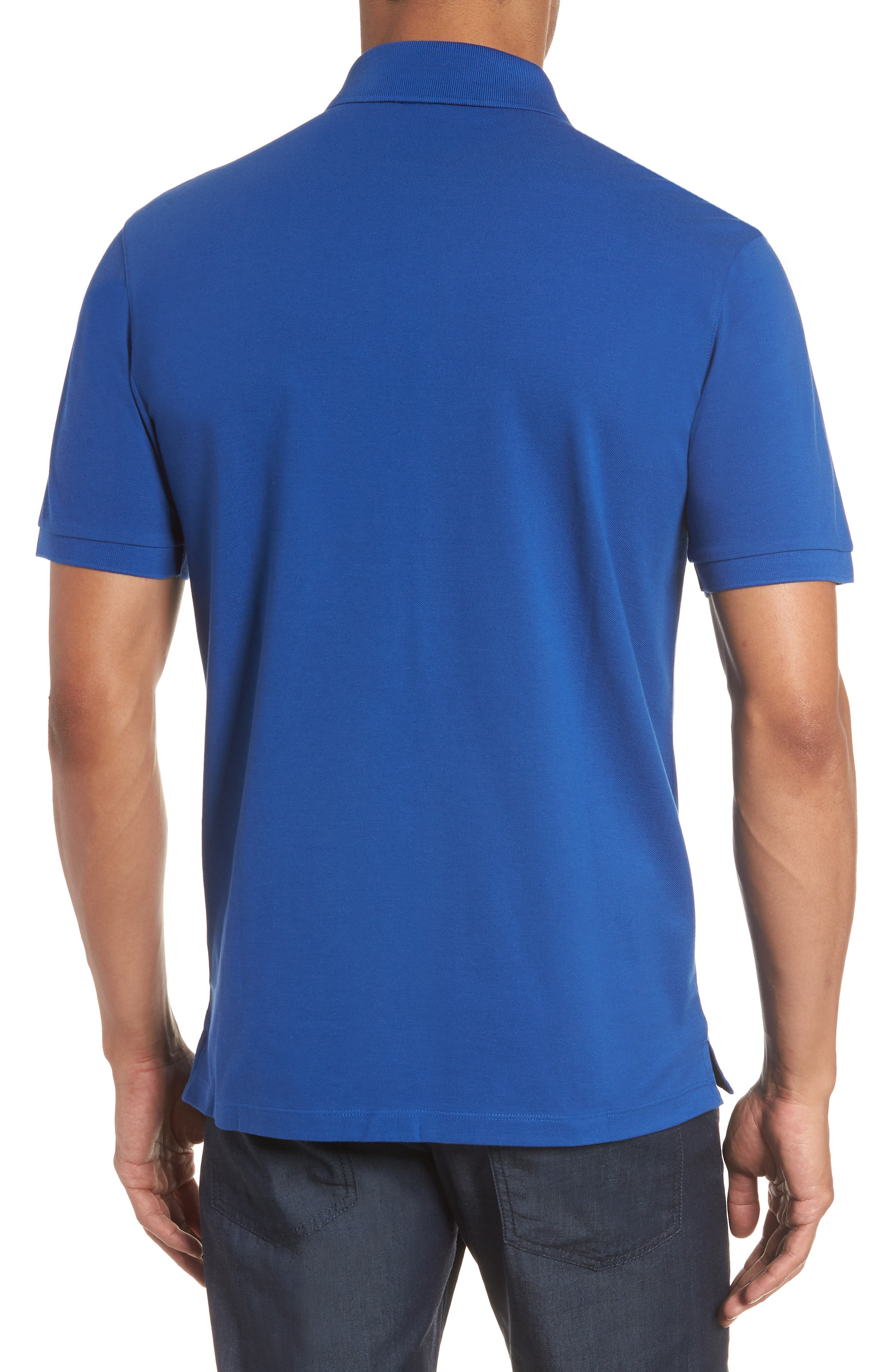 'Pallas' Regular Fit Logo Embroidered Polo Shirt,                             Alternate thumbnail 2, color,                             Open Blue