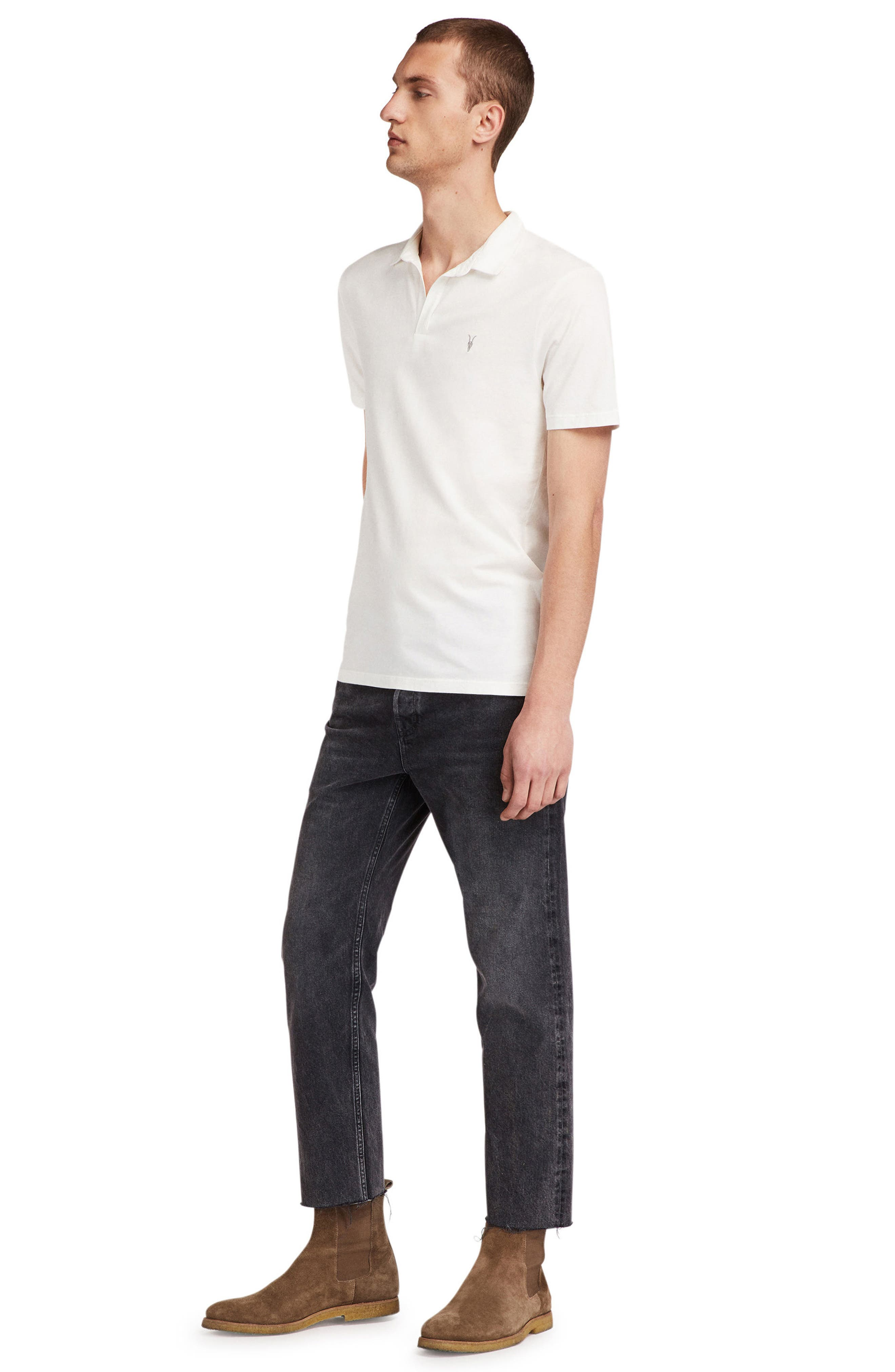 Ossage Slim Fit Polo,                             Alternate thumbnail 3, color,                             Chalk White